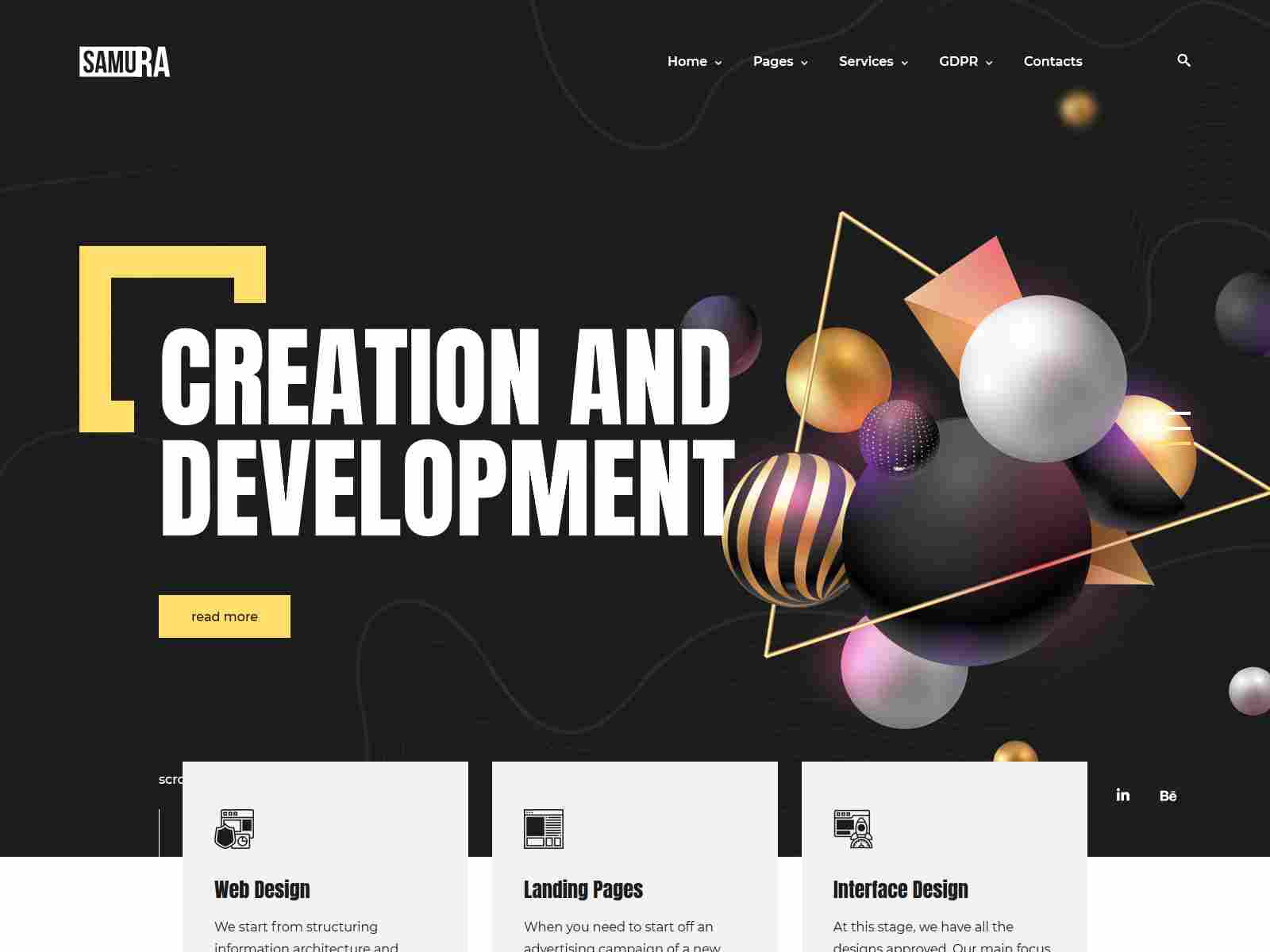 Samura – Creative Web Agency WordPress Theme