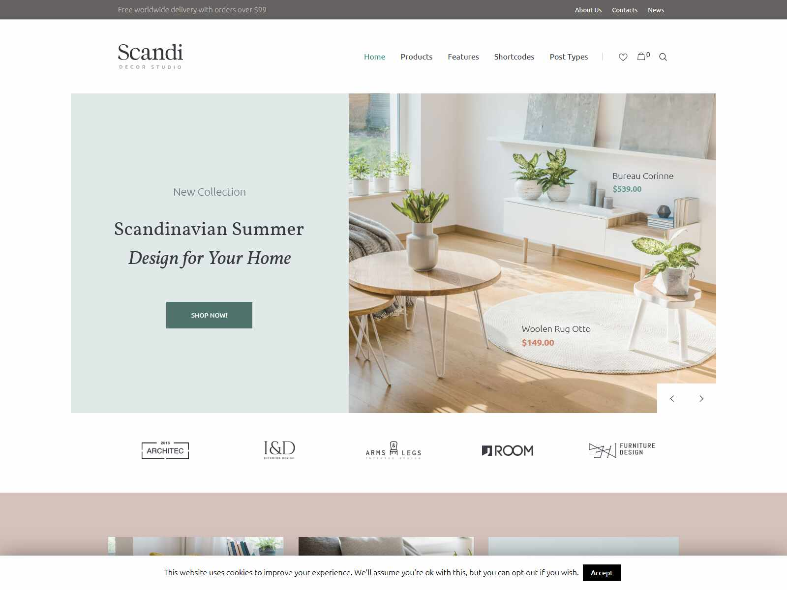 Scandi - Decor & Furniture Shop WooCommerce Theme