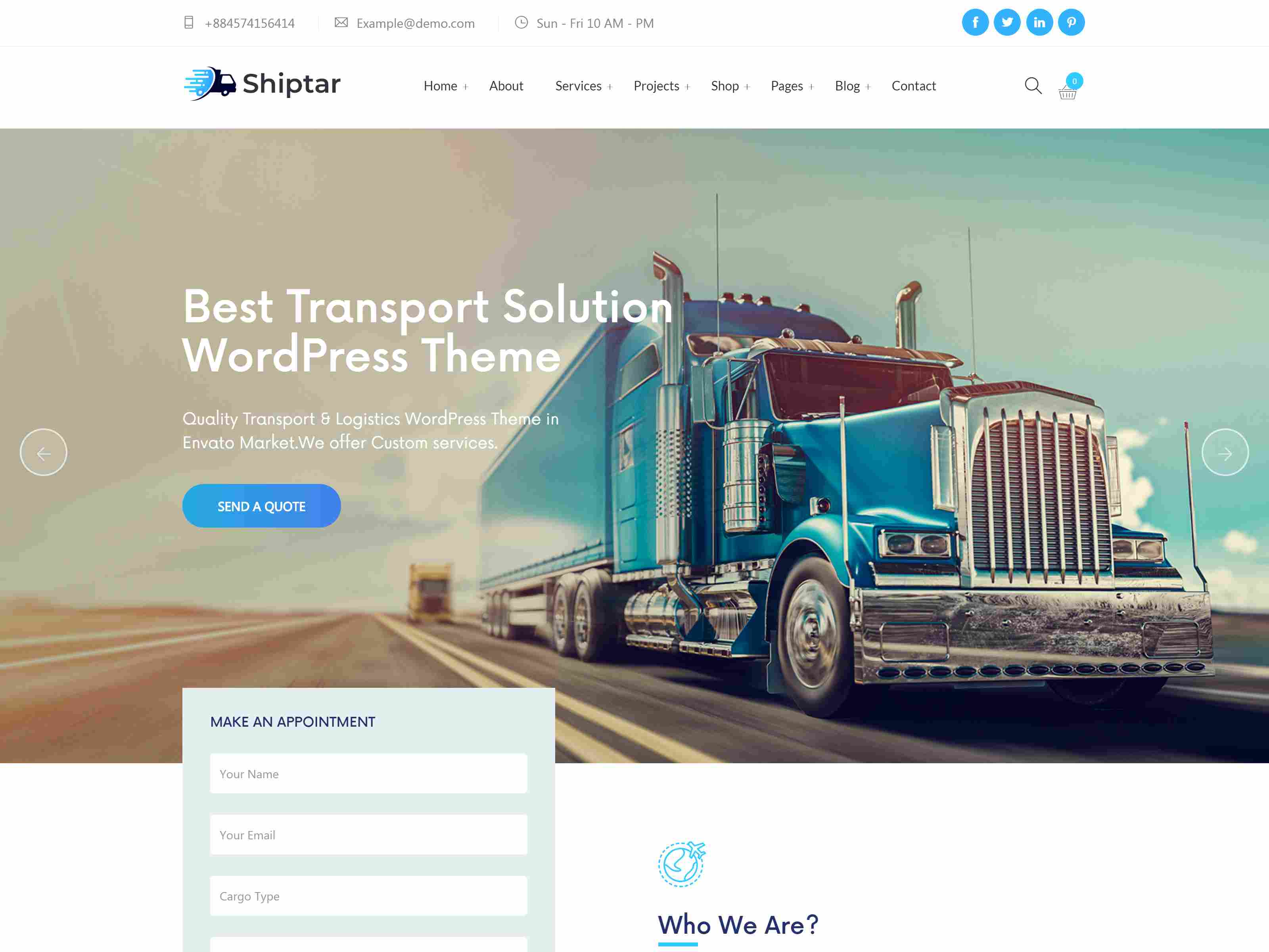 Shiptar - Transport & Logistics WordPress Theme