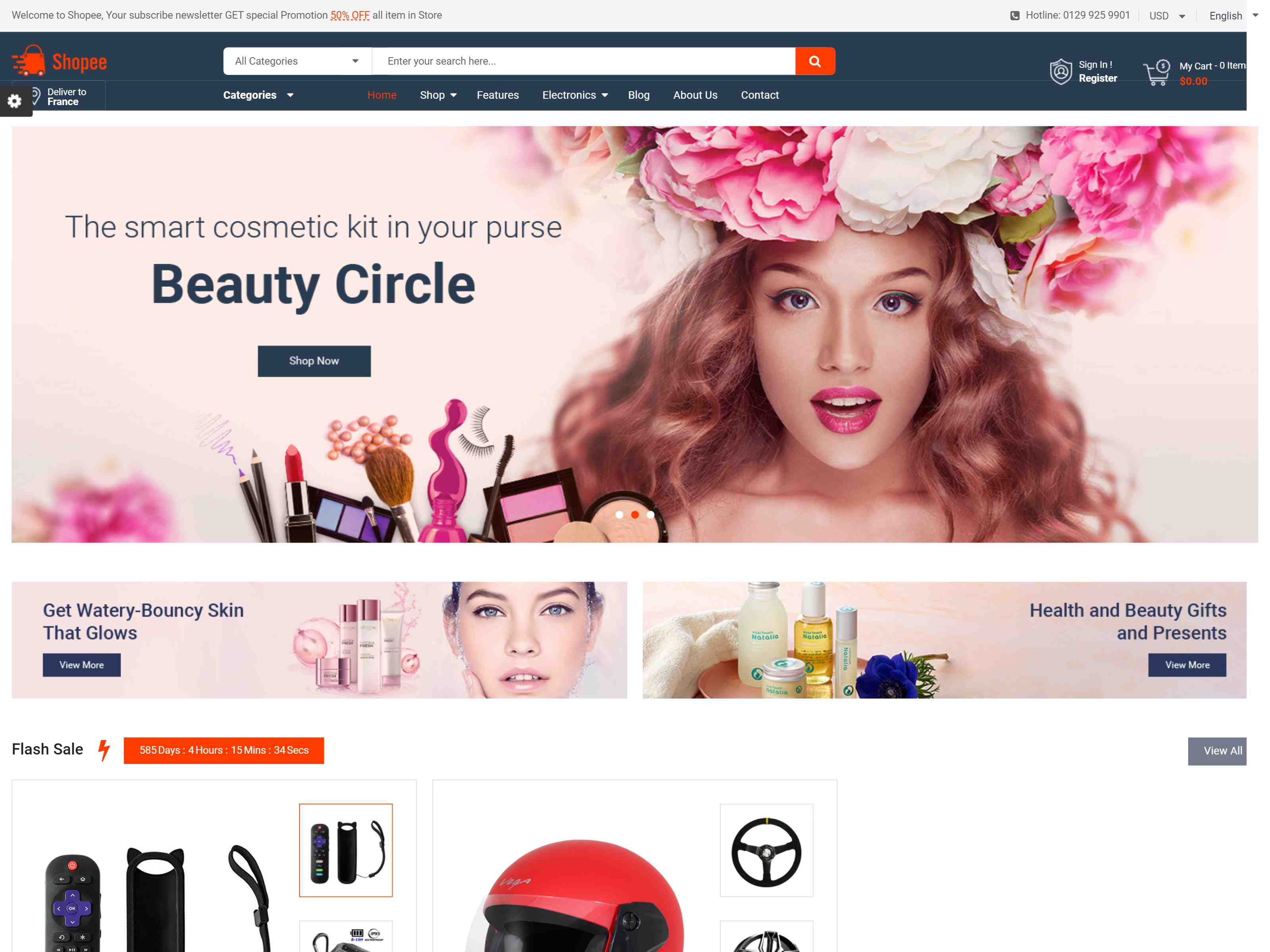 Shopee - MultiPurpose PrestaShop 1.7 Responsive Theme