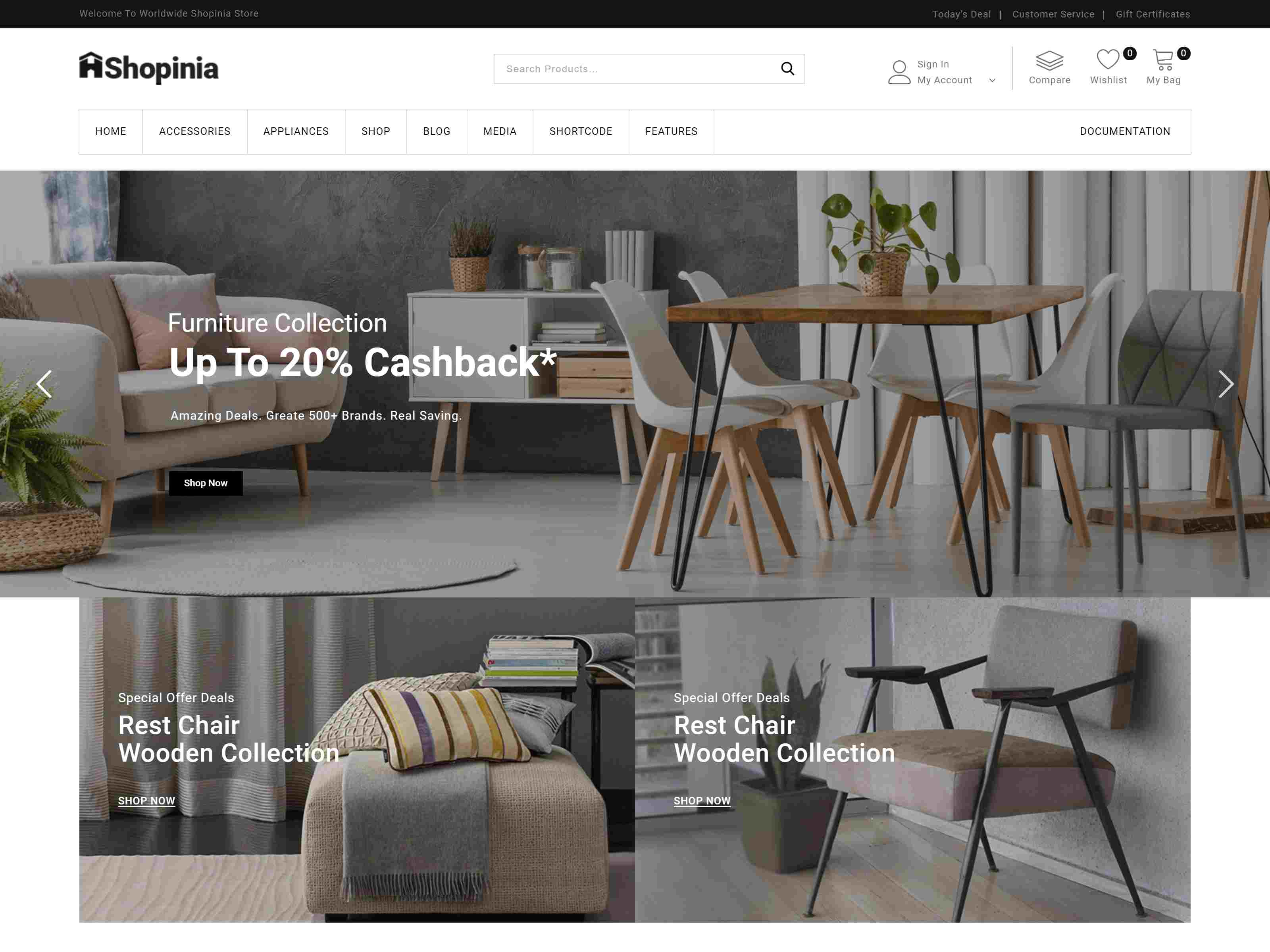 Shopinia - Multipurpose WooCommerce Theme