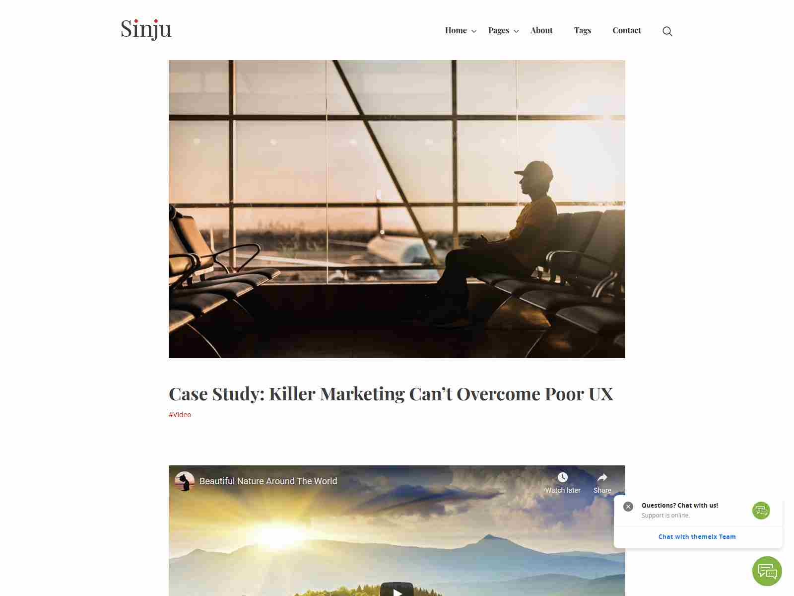 Sinju - Responsive Blog and Magazine Ghost Theme