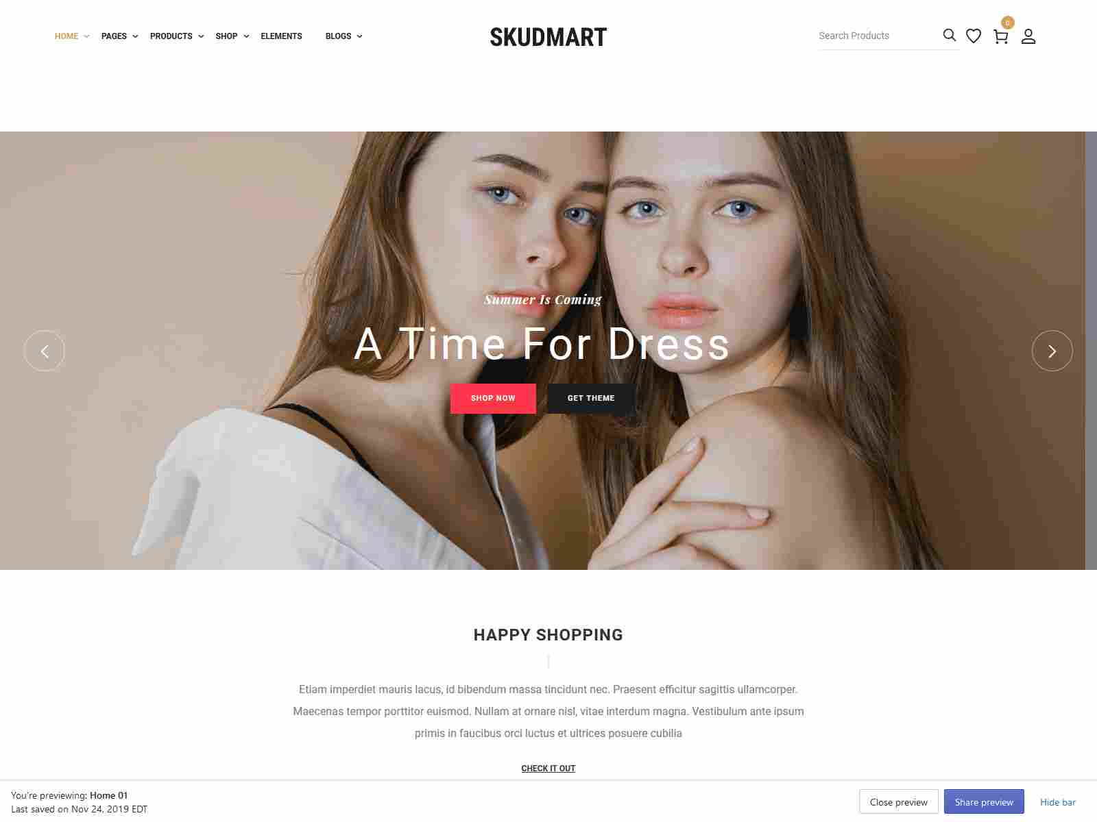 Skudmart - Fashion Shopify Theme
