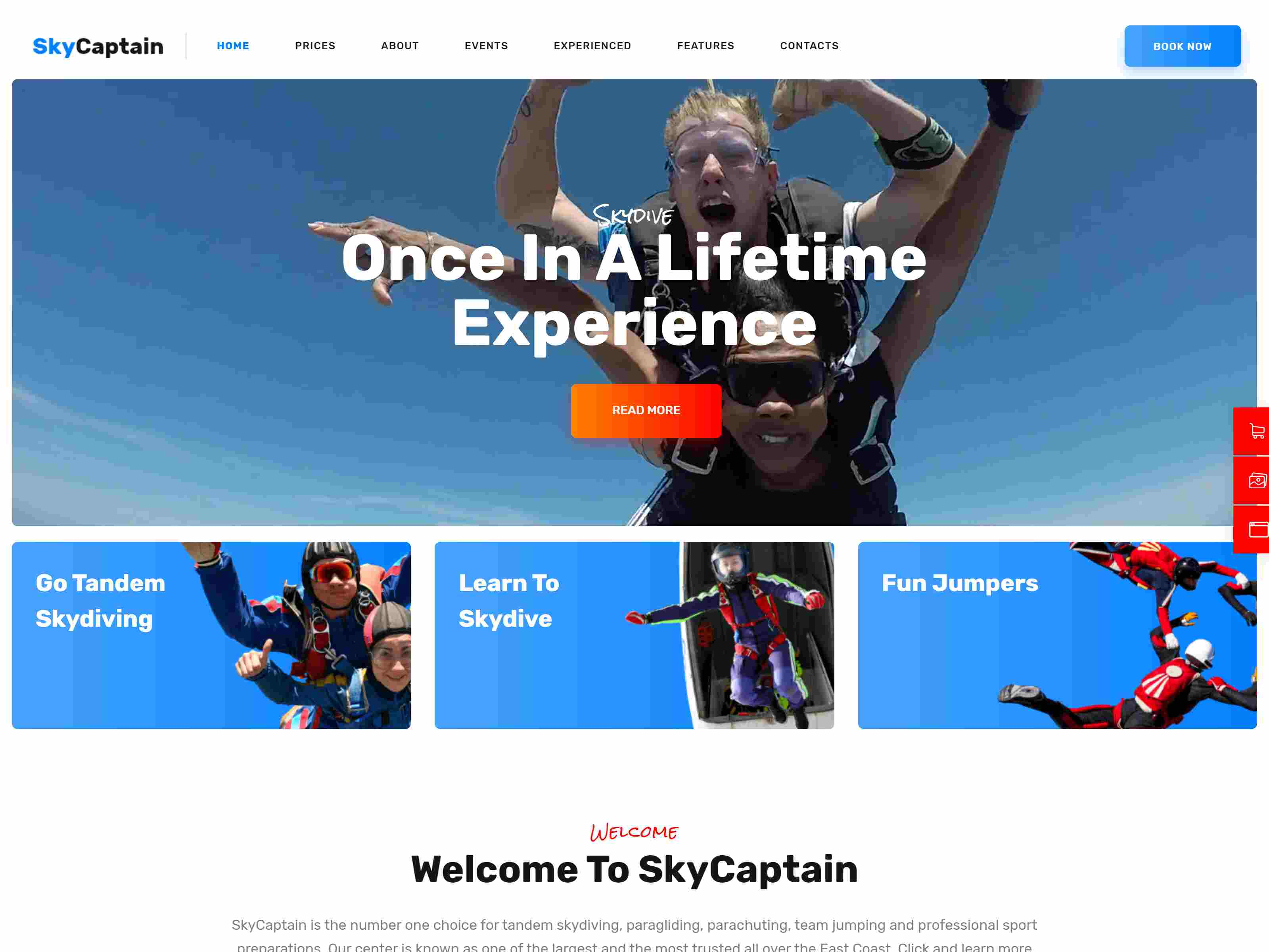 Best Premium Sky Diving WordPress Themes