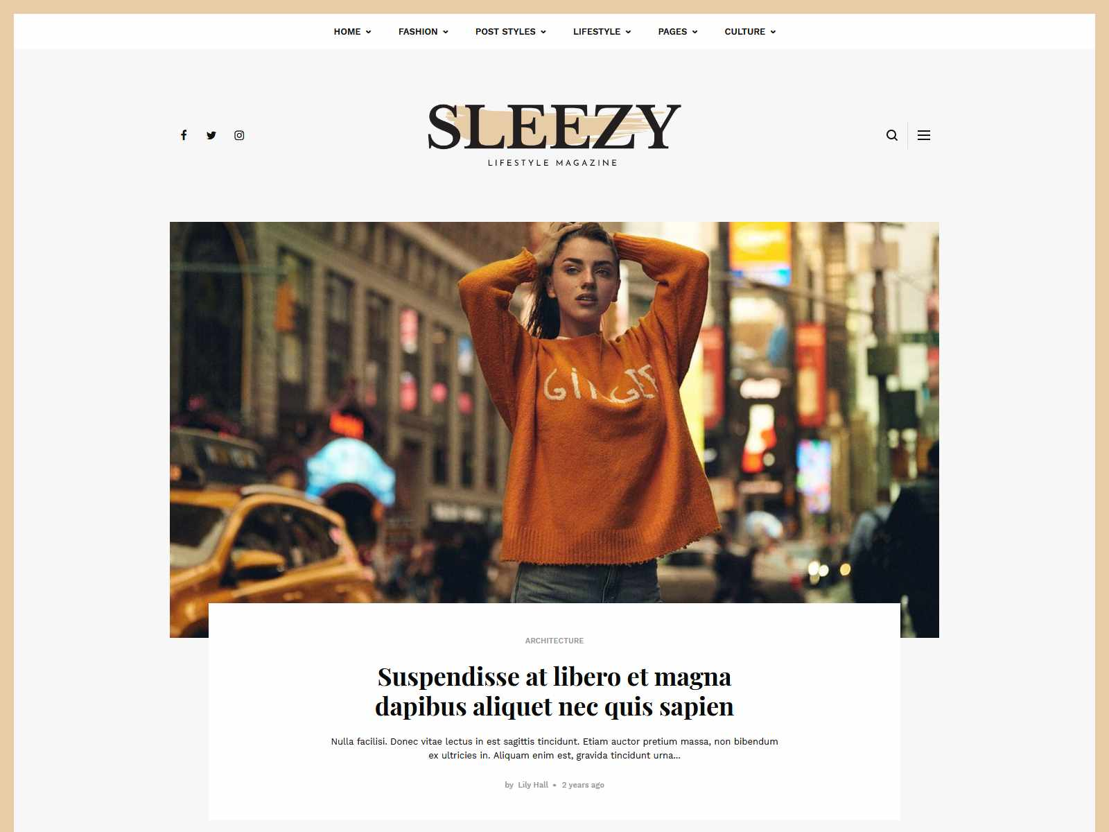 Sleezy Lifestyle - Marketing WordPress Theme wordpress news themes