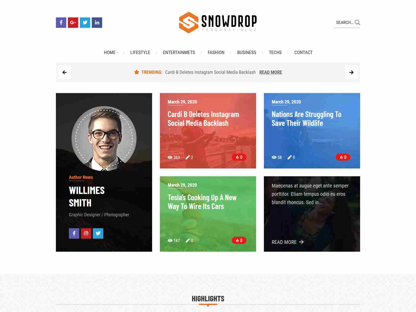 Snowdrop - Viral News & Magazine WordPress Theme wordpress news themes