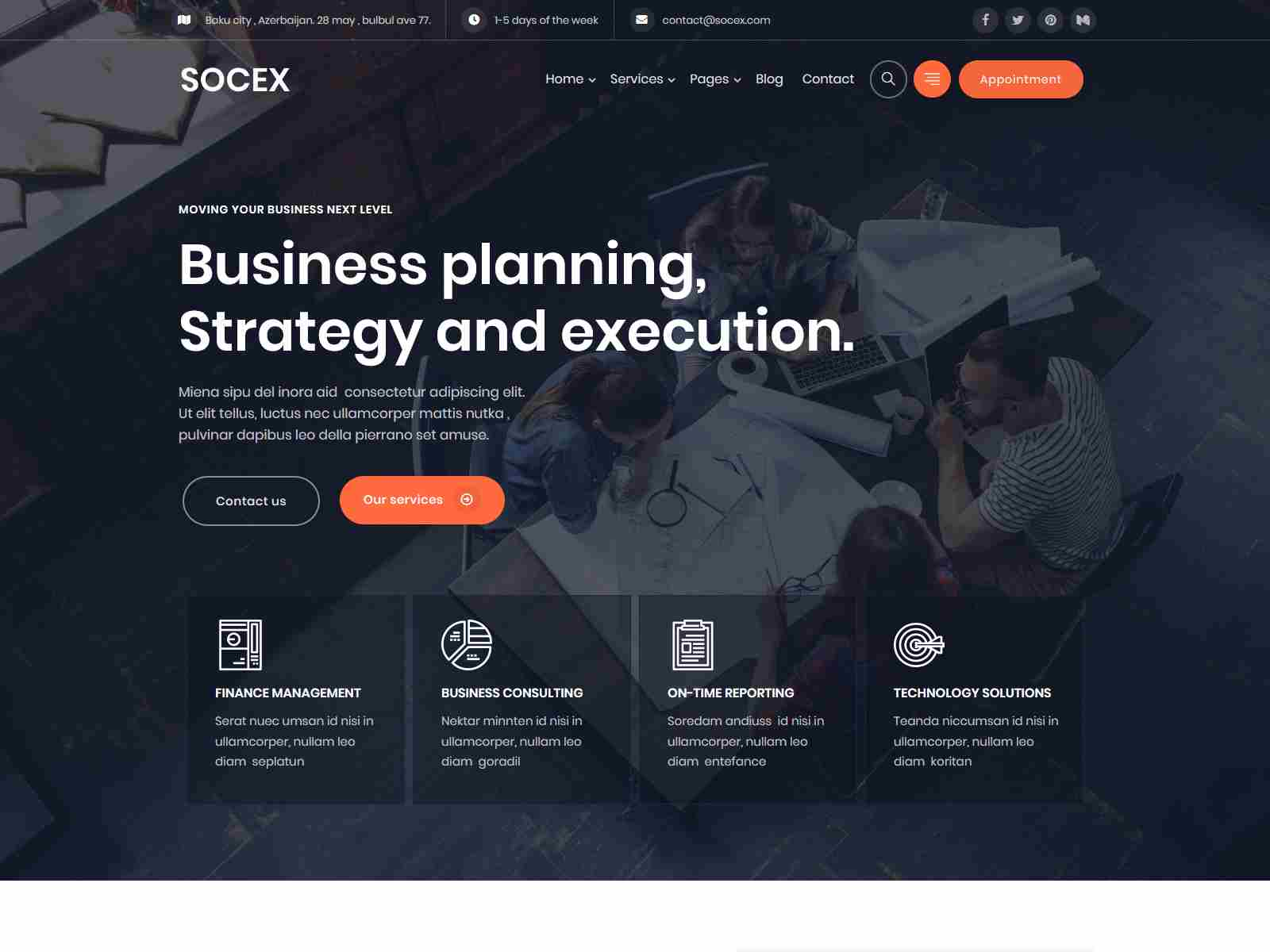 Socex - Business Consulting & Finance WordPress theme