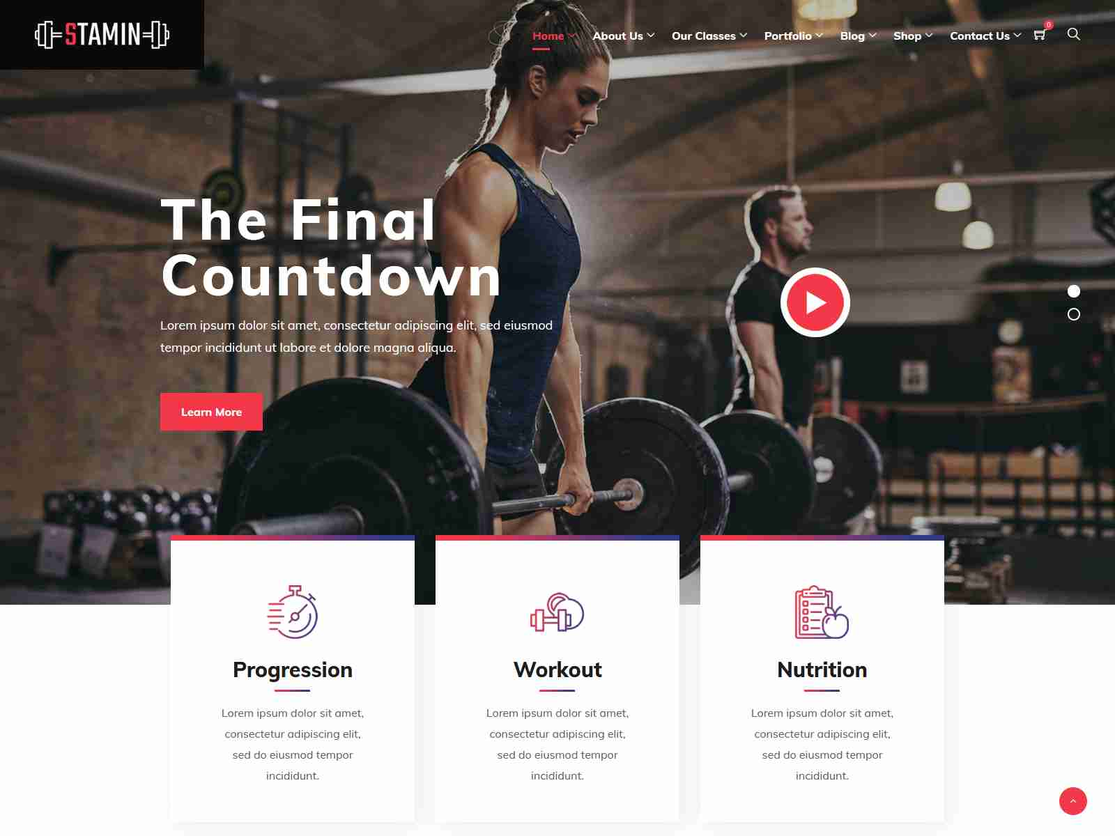 Stamin - Fitness and Gym WordPress Theme