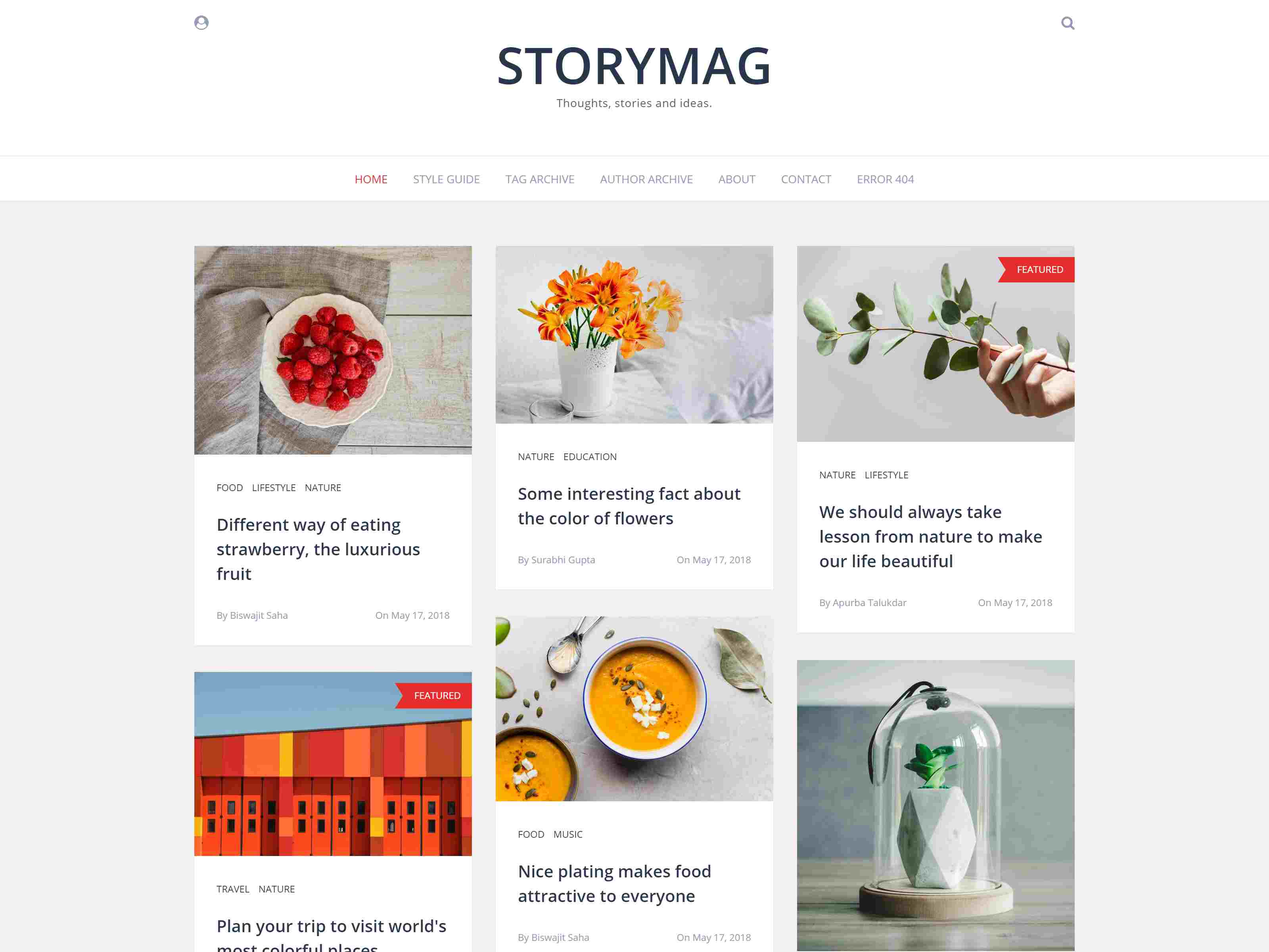 Storymag - Minimal Masonry Style Magazine and Blog Ghost Theme ghost themes