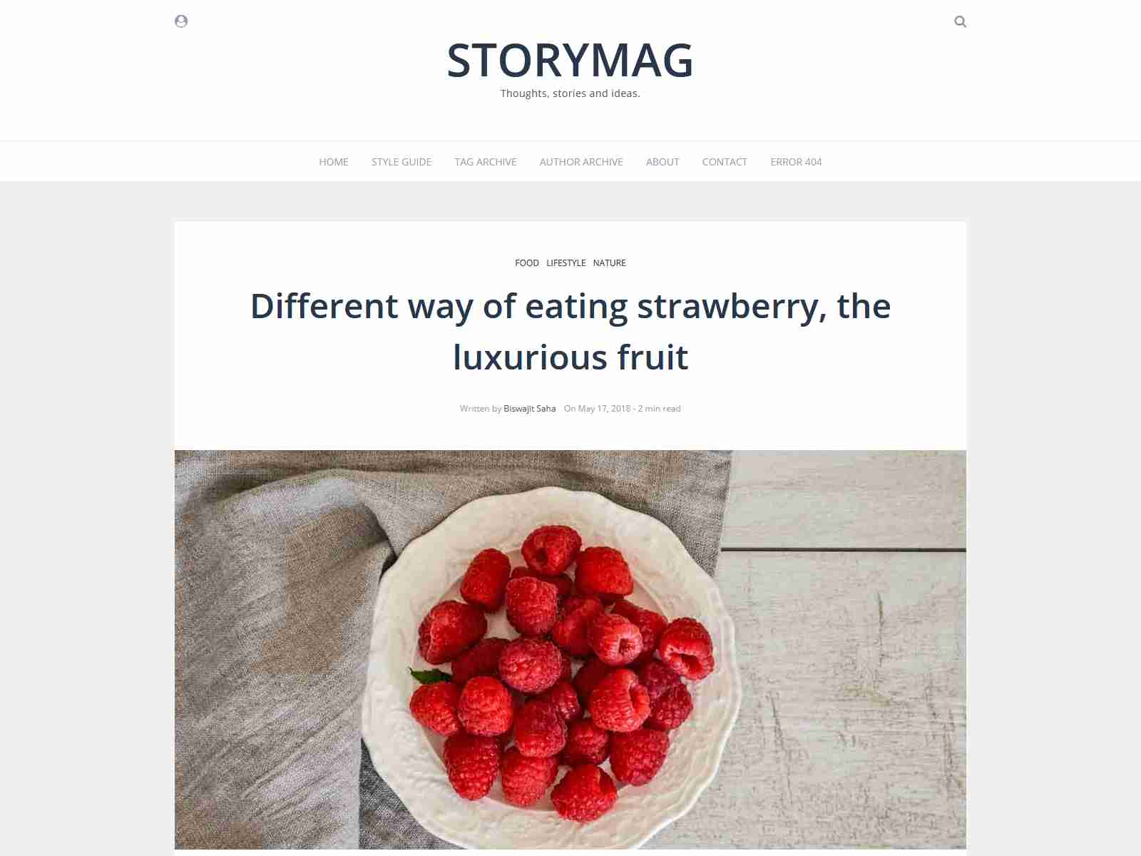 Storymag - Minimal Masonry Style Magazine and Blog Ghost Theme