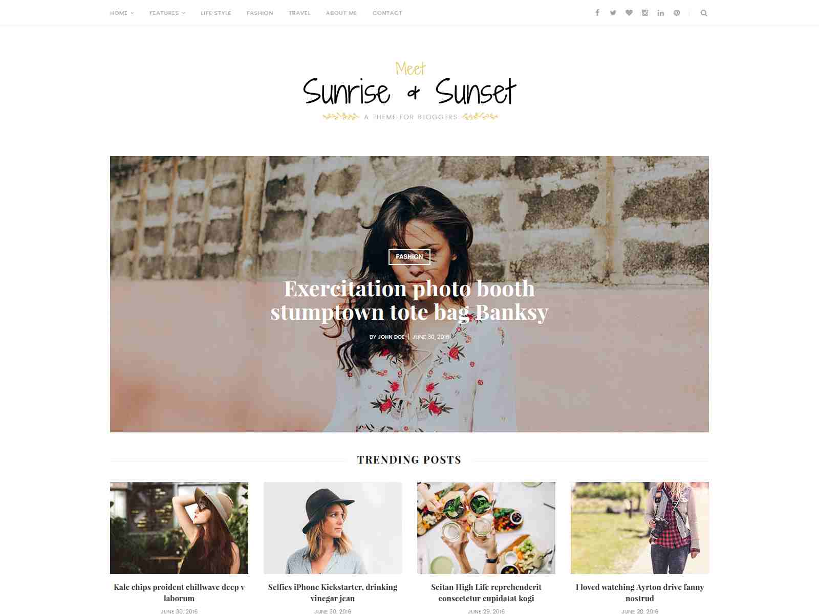 Sunrise & Sunset - Personal & Magazine Blogger Template News Blogger Template
