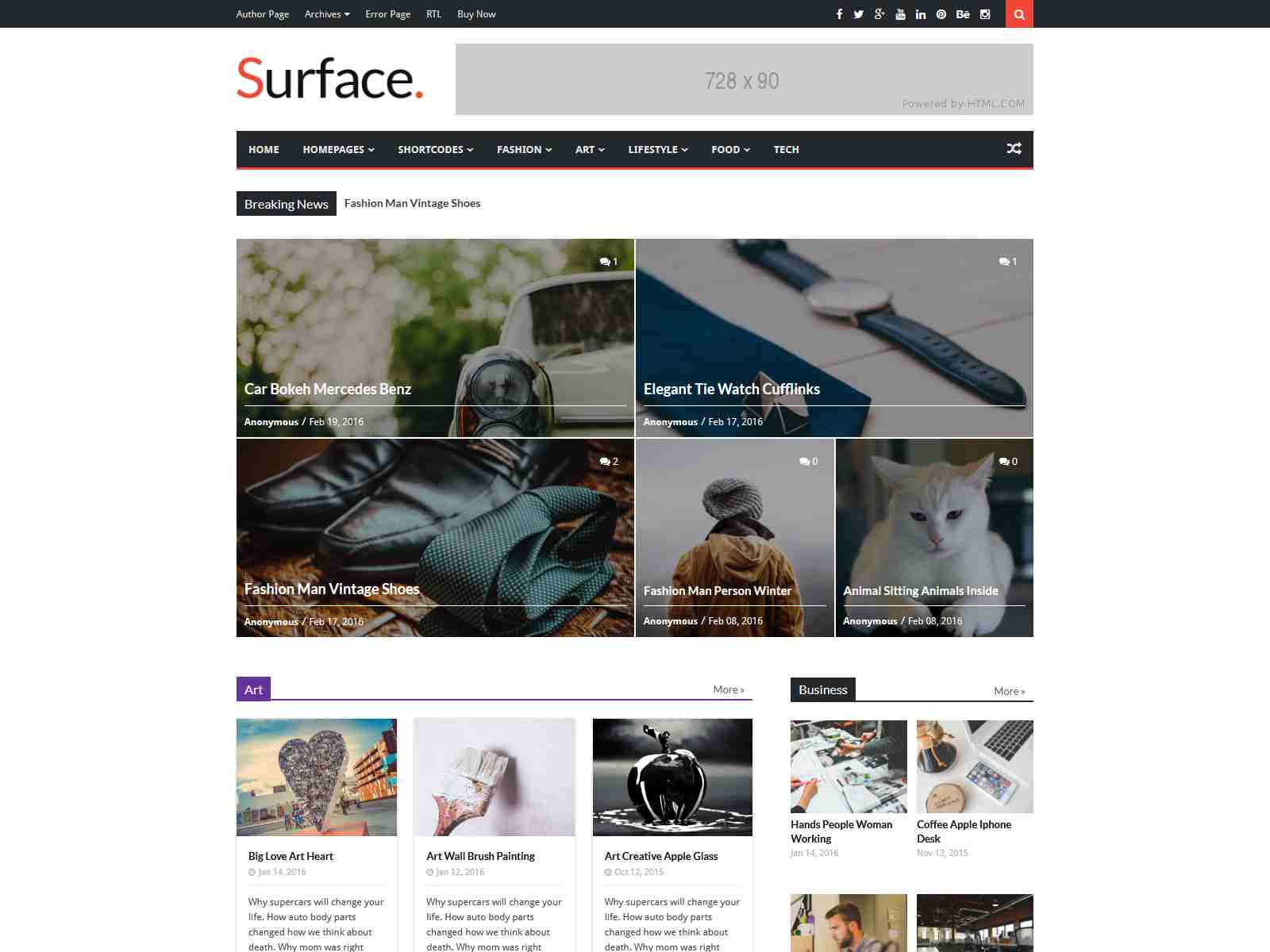 Surface - Responsive Magazine Blogger Theme