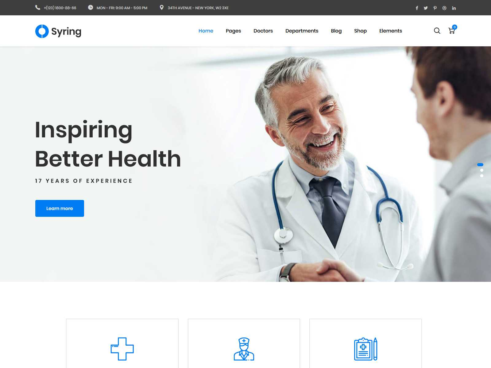 Syring | Medical Clinic WordPress Theme