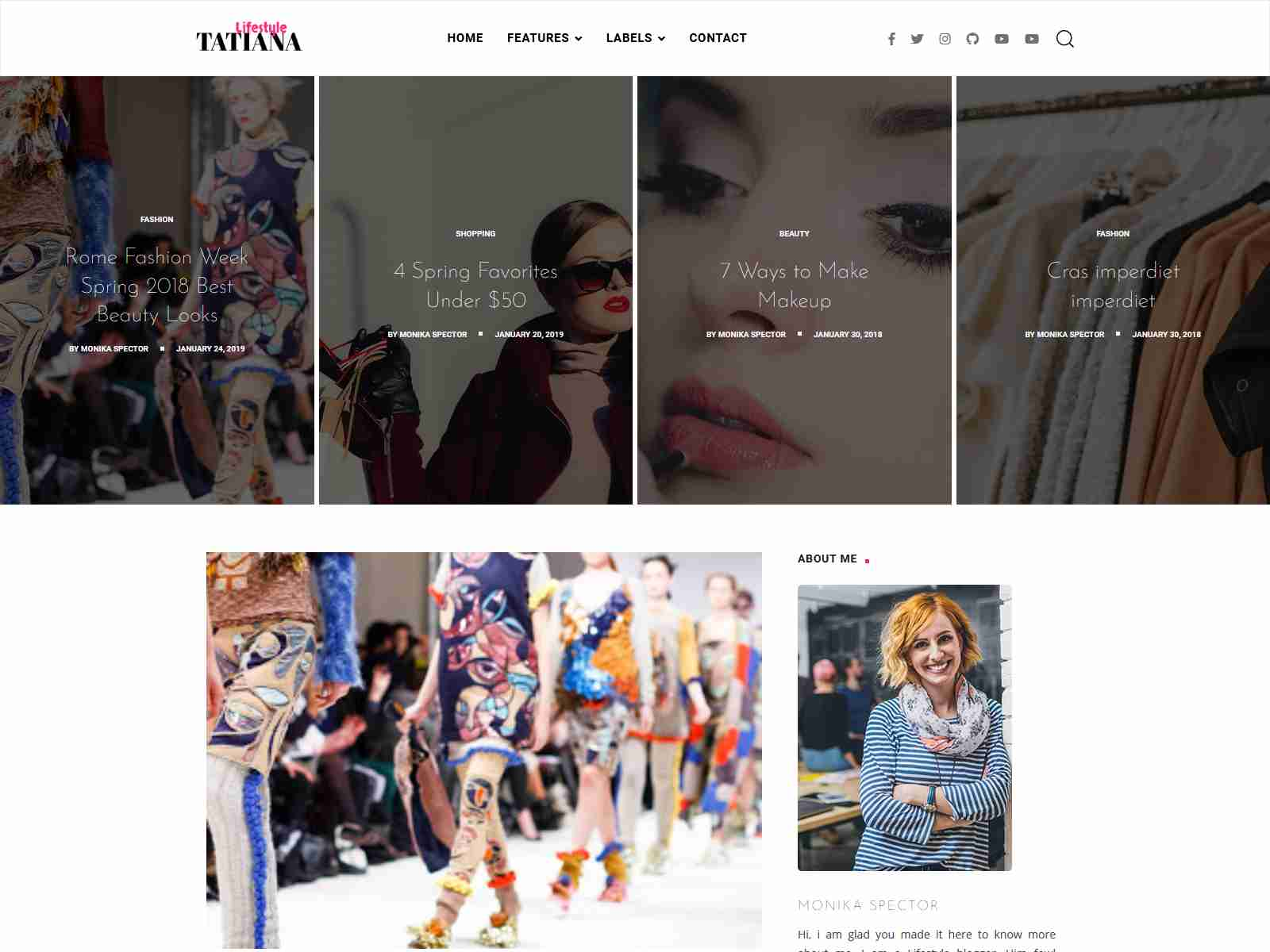Tatiana - a Multi-Purpose Blog Template For Blogger