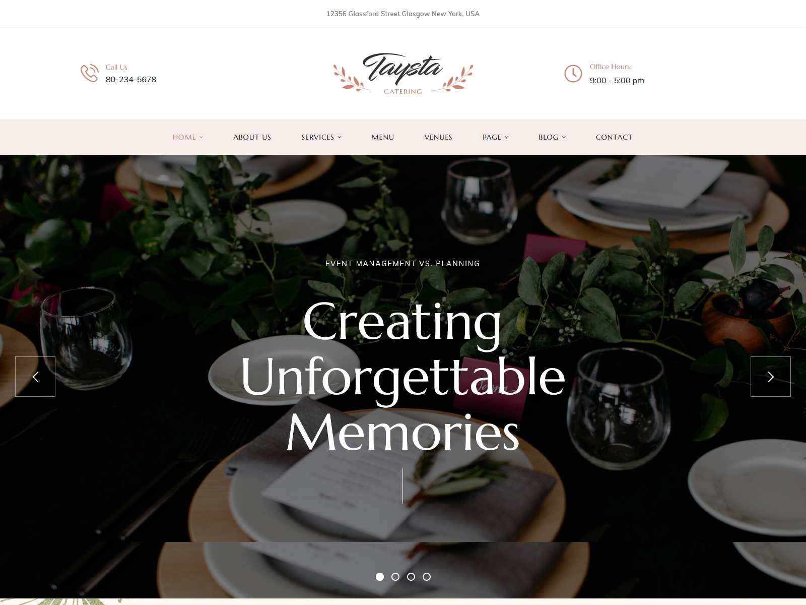 Taysta - Wedding Event Planning WordPress Theme