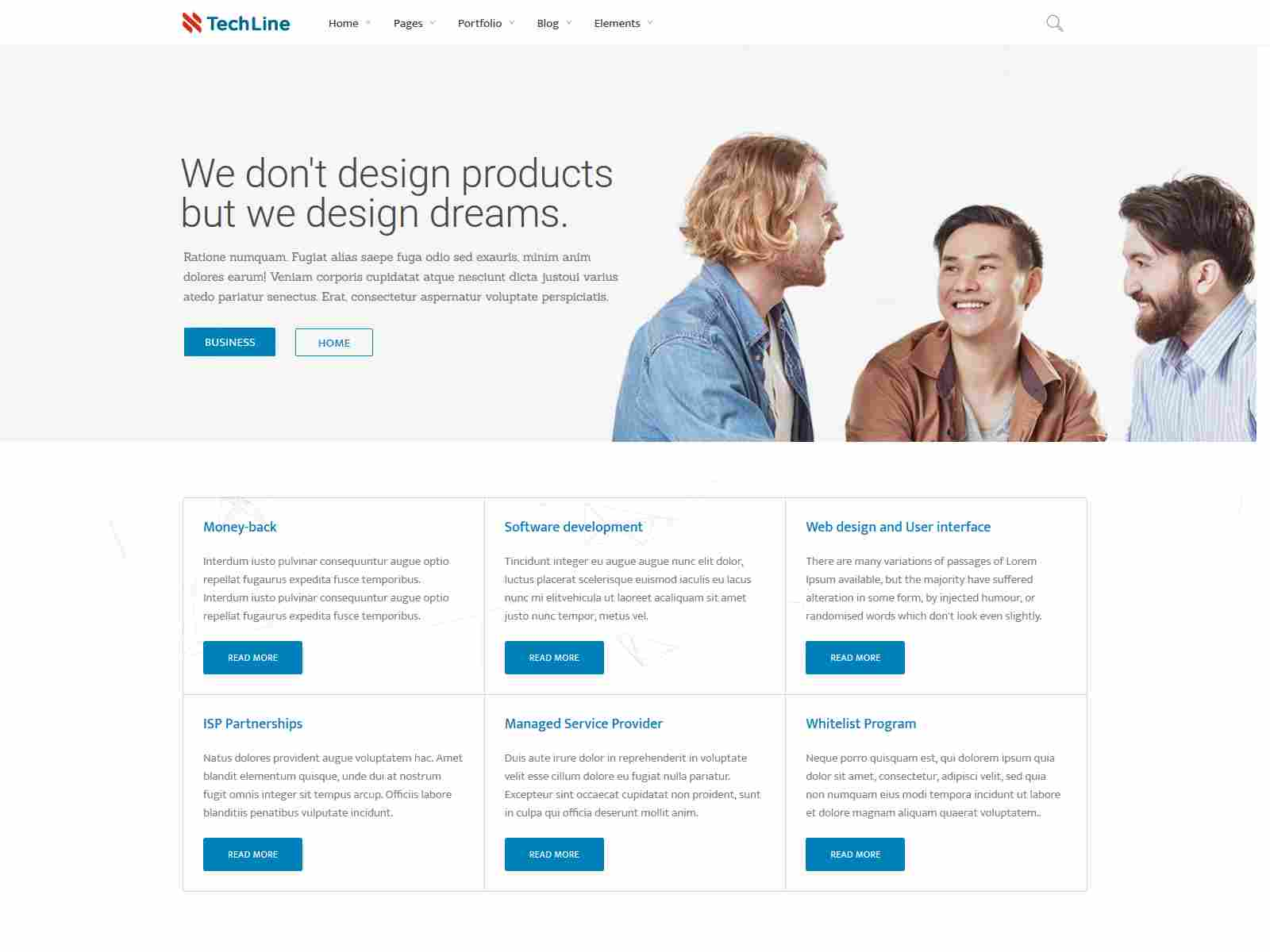 TechLine - Web services businesses and startups Drupal 8.8 Theme