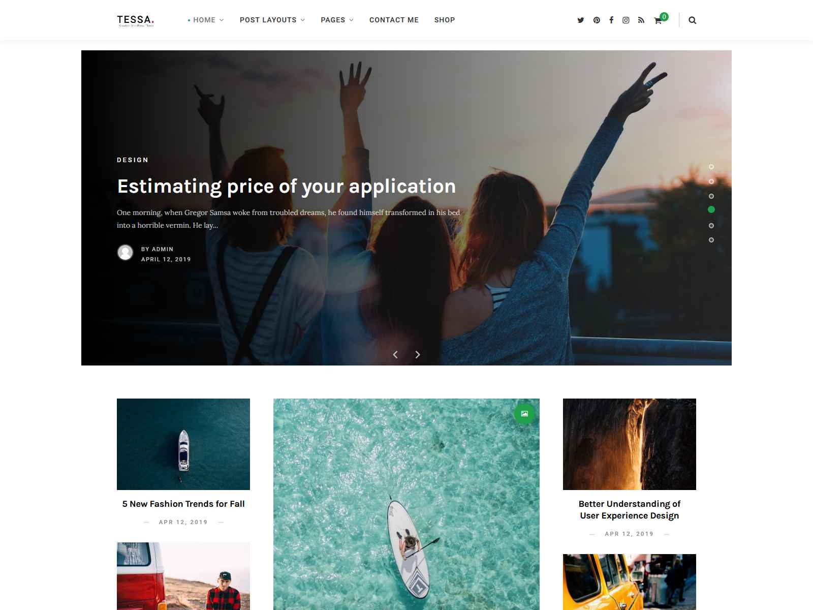 Tessa - Modern Theme for Blogs & Magazines wordpress news themes