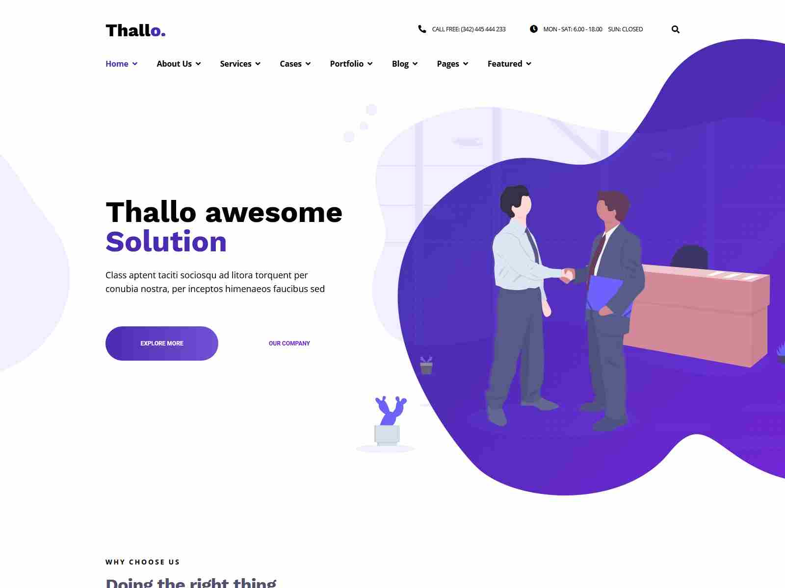 Thallo – Consulting & Finance WordPress Theme