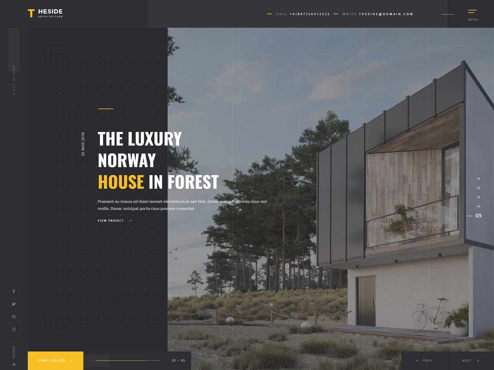 TheSide - Creative Architecture WordPress Theme architecture wordpress themes, real estate wordpress theme