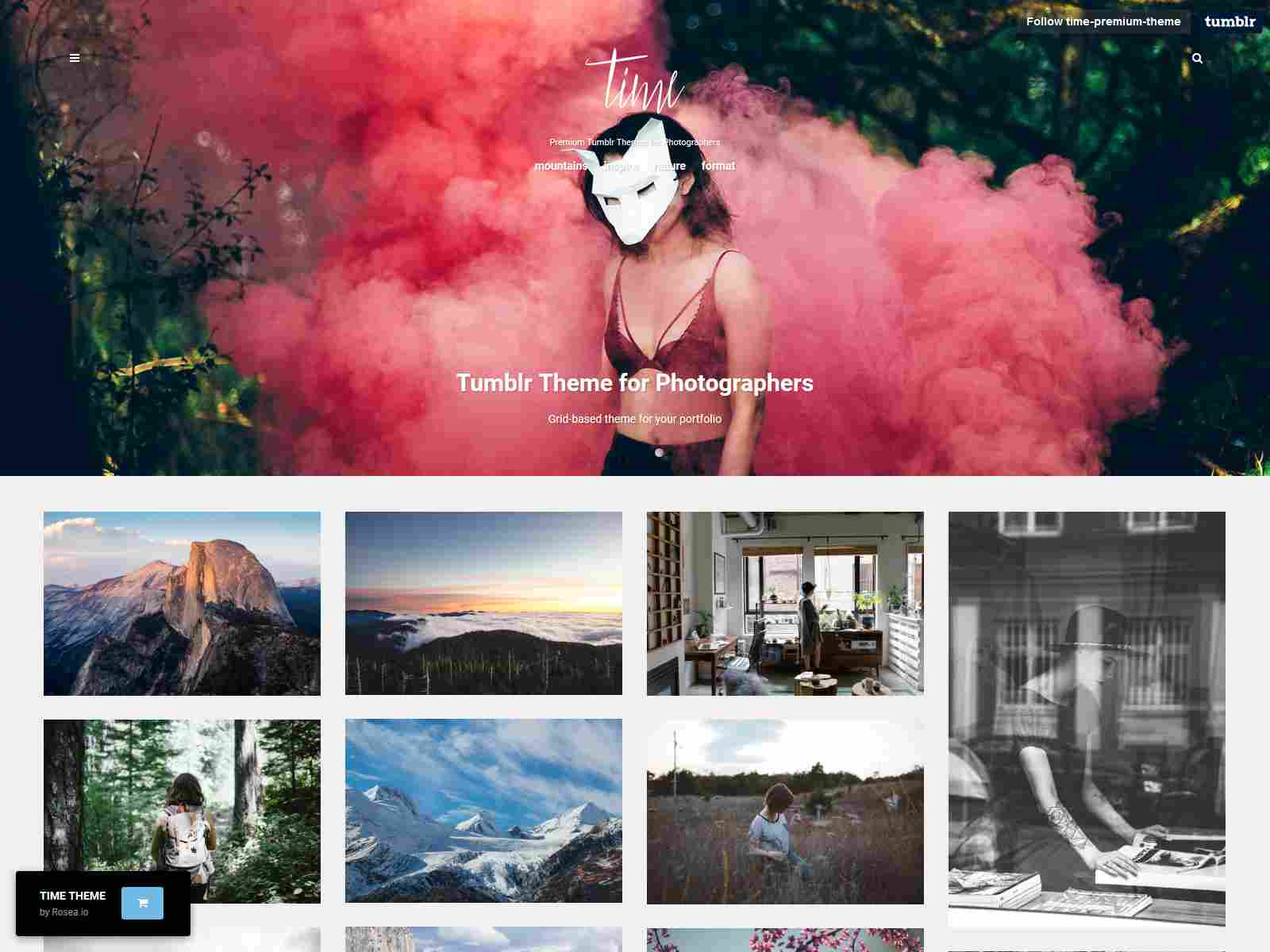 Time | Photography Grid Tumblr Theme
