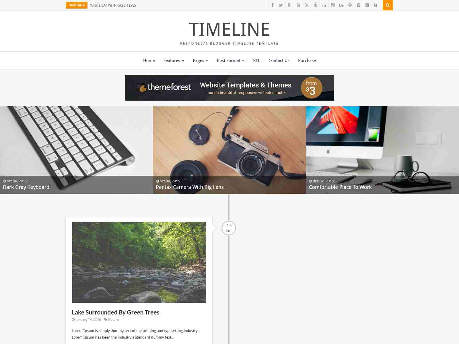 Timeline - Responsive Blogger Timeline Template Personal Blogger, Personal BlogSpot