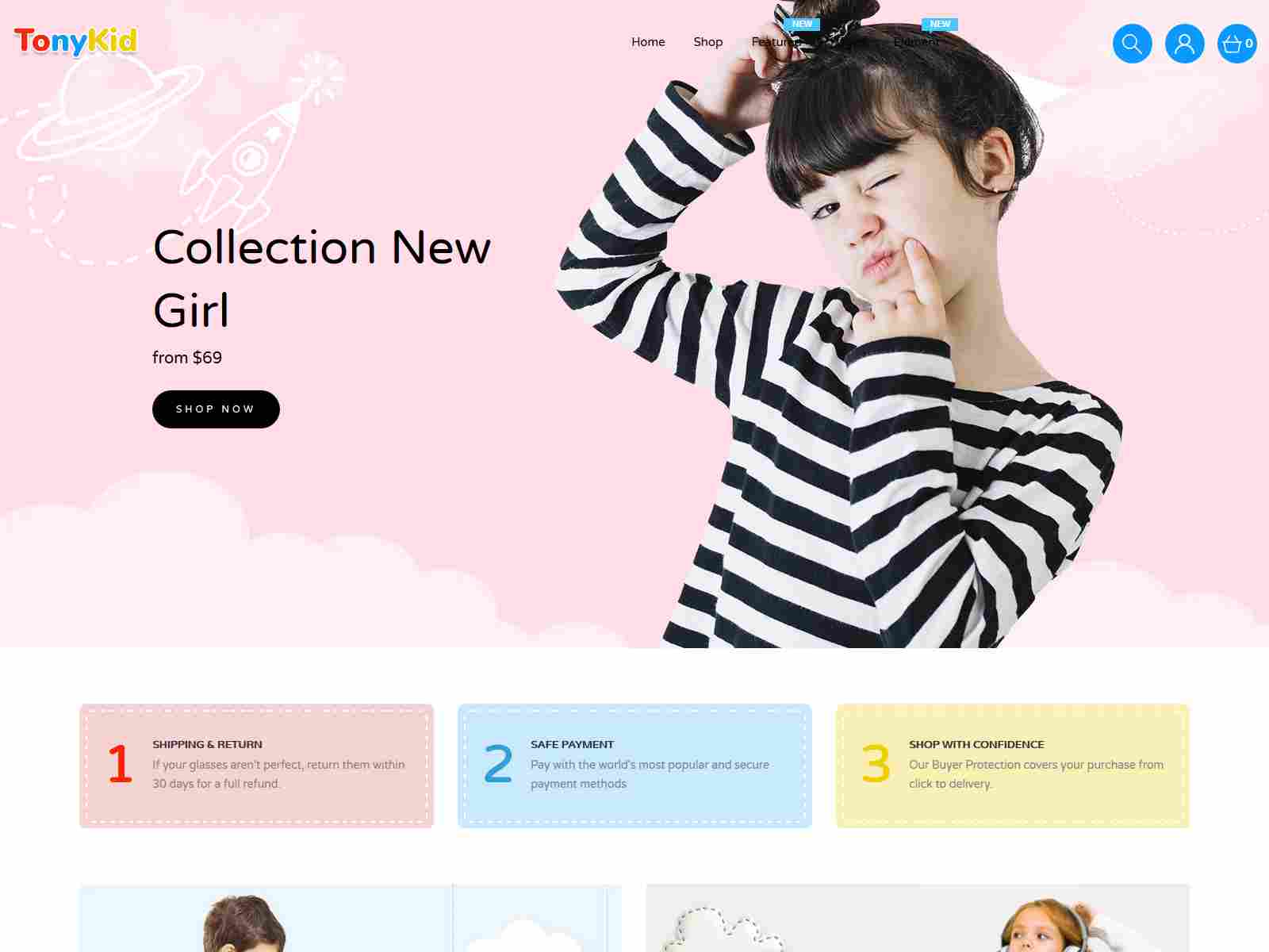 TonyKid - Kids Fashion & Toys Responsive Shopify Theme