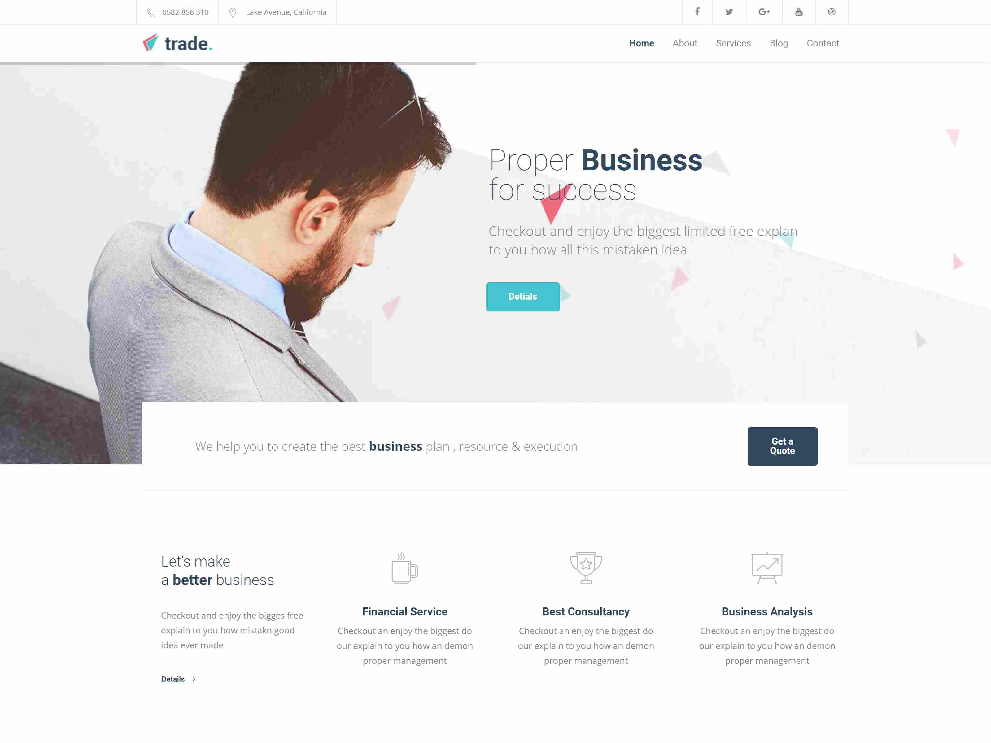 Trade - Multipurpose Joomla Template