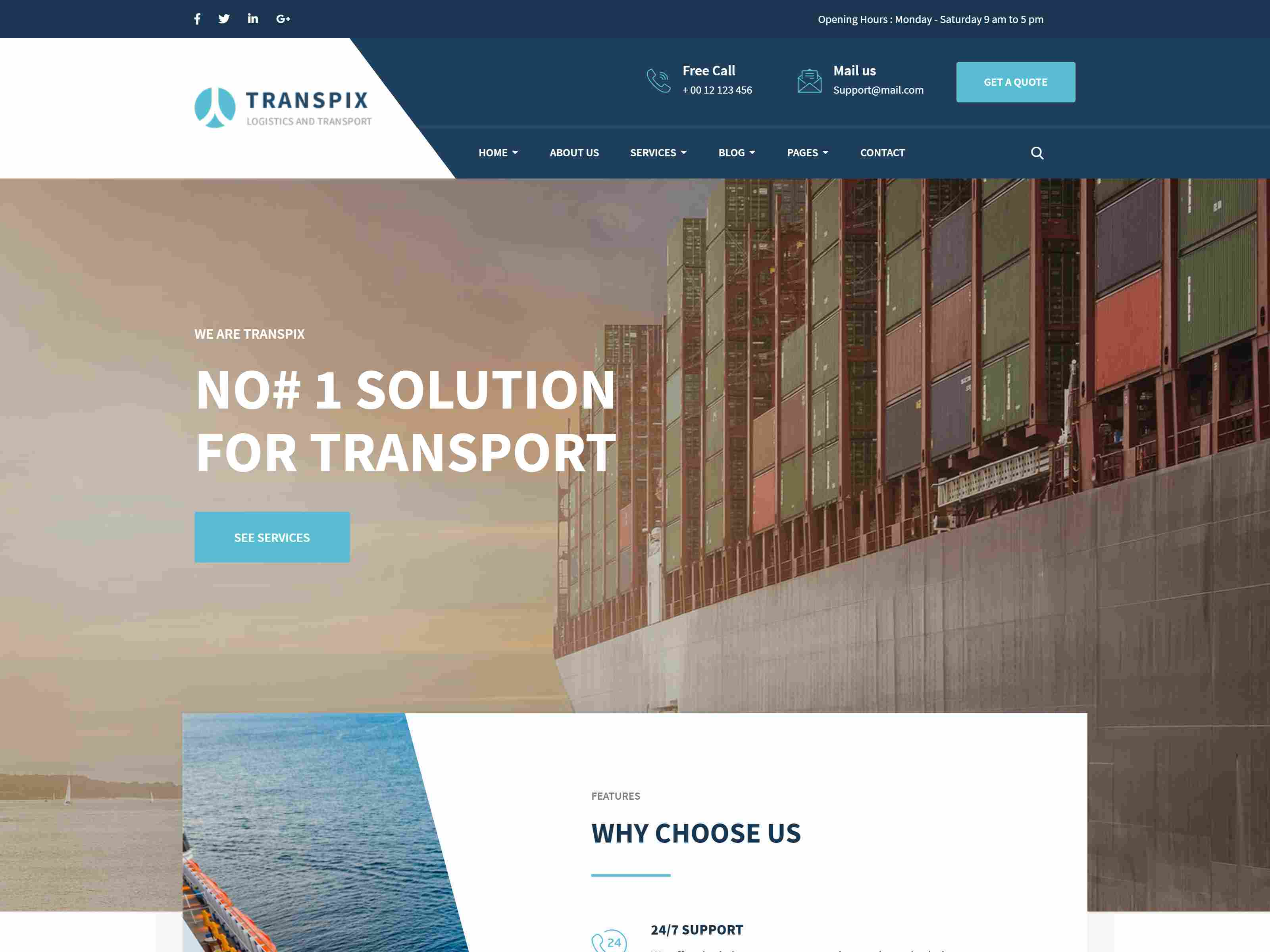 Best Premium Logistic Drupal Themes