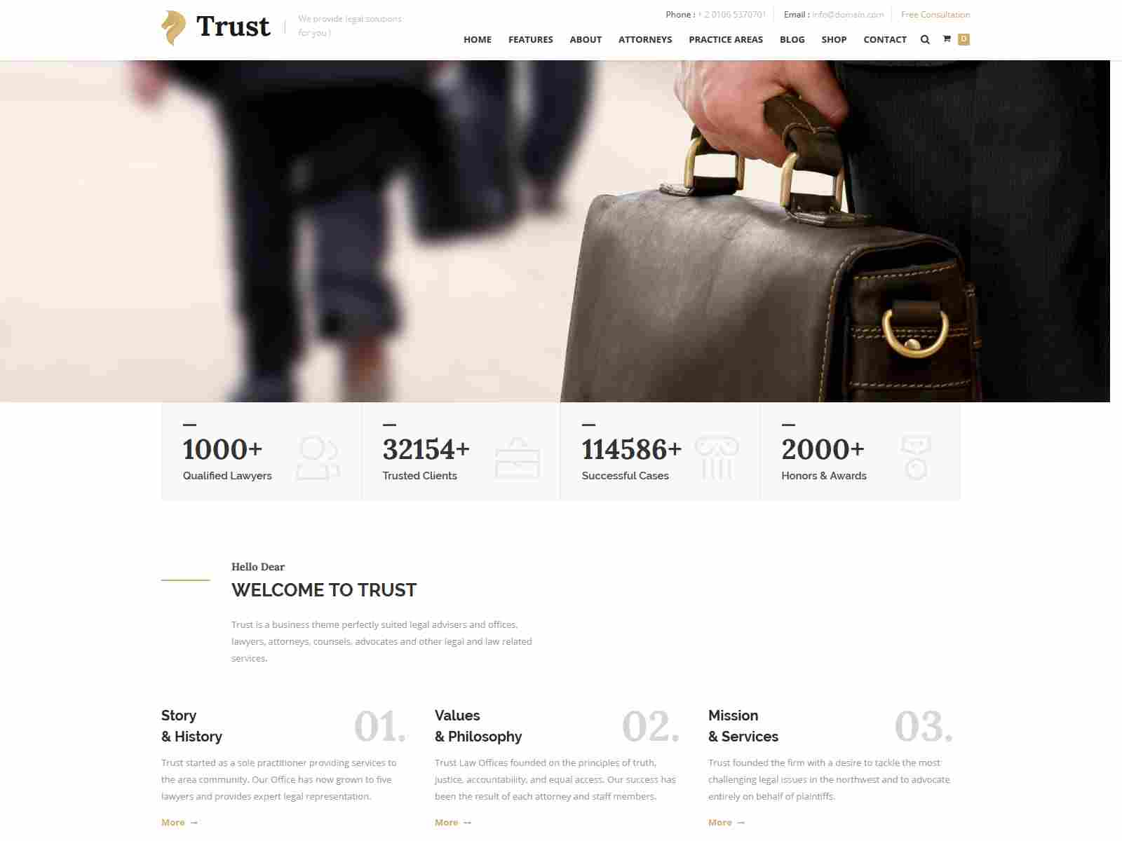 Trust - Lawyer & Attorney Business Drupal 8.8 Theme