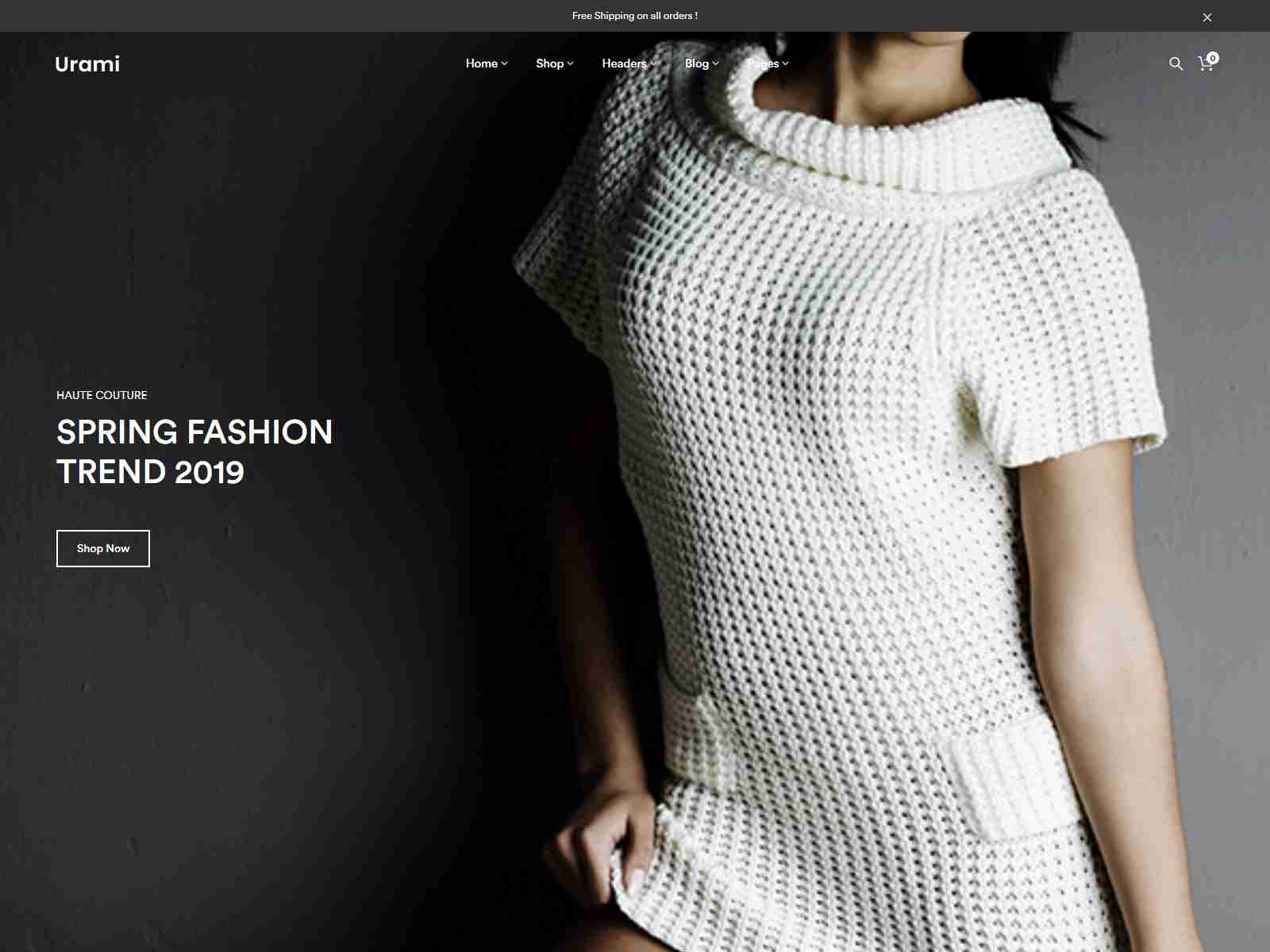 Urami WP - Modern minimalist WooCommerce theme fashion wordpress themes