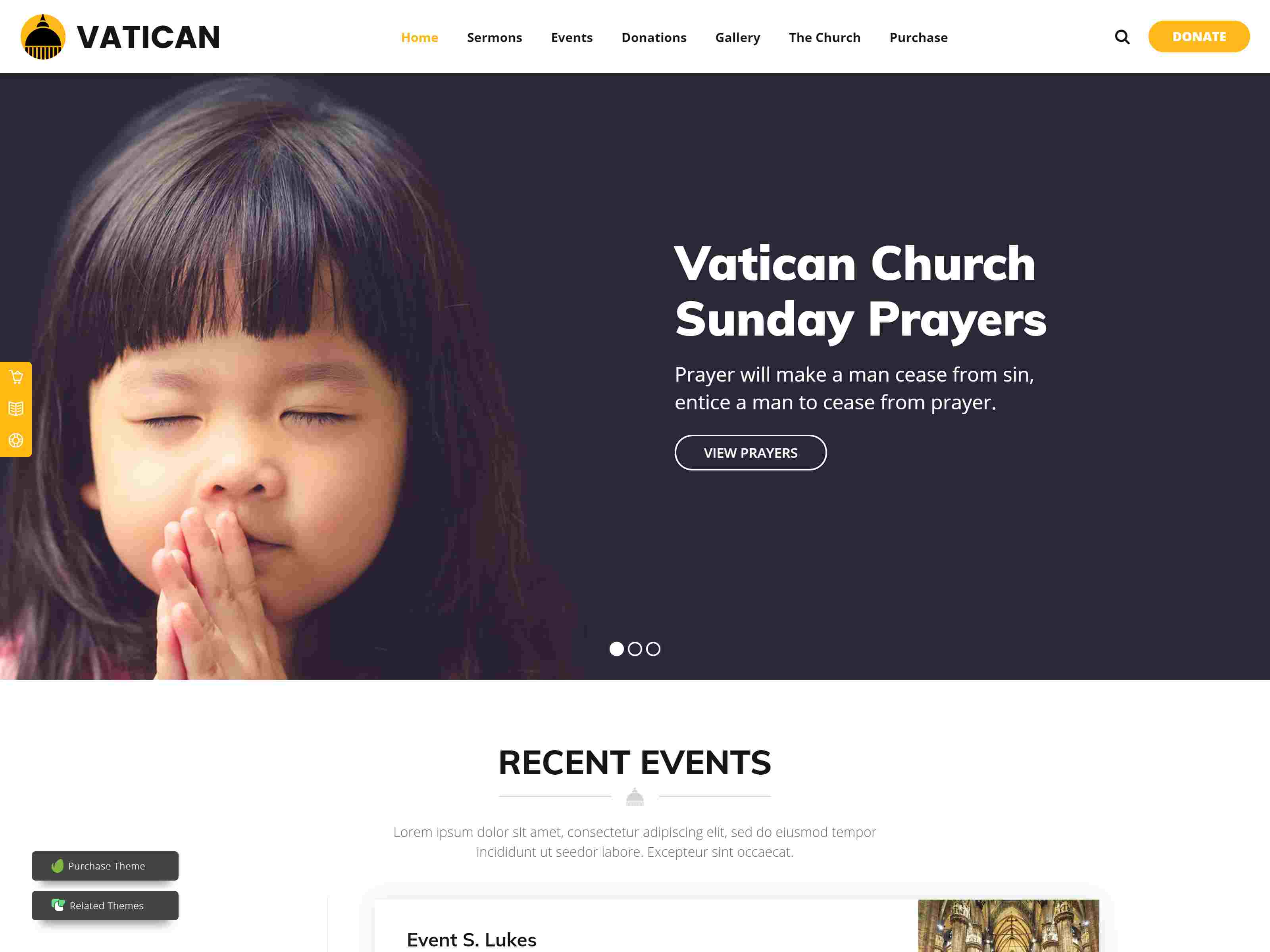 Vatican - Church WordPress Theme fundraising WordPress theme