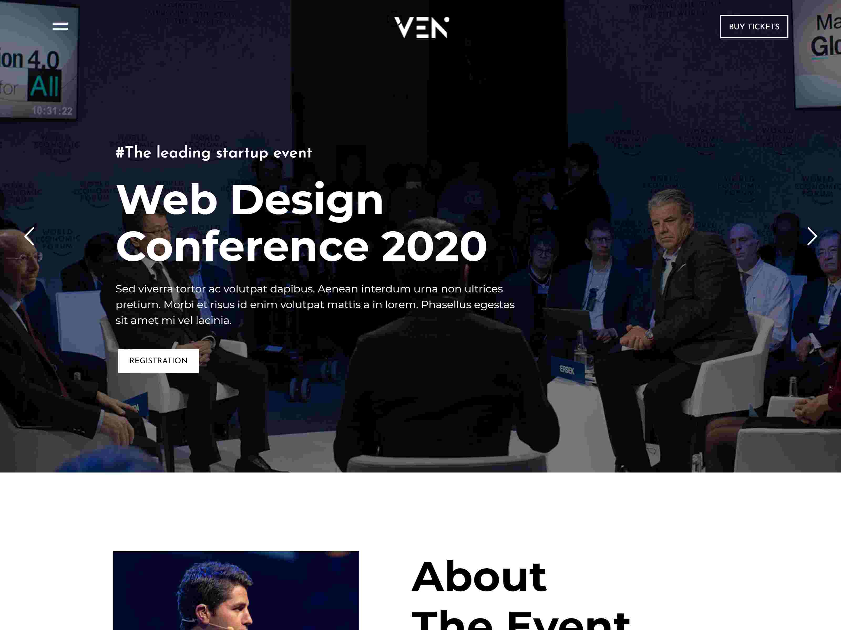 Ven - Creative Event & Portfolio WordPress Theme