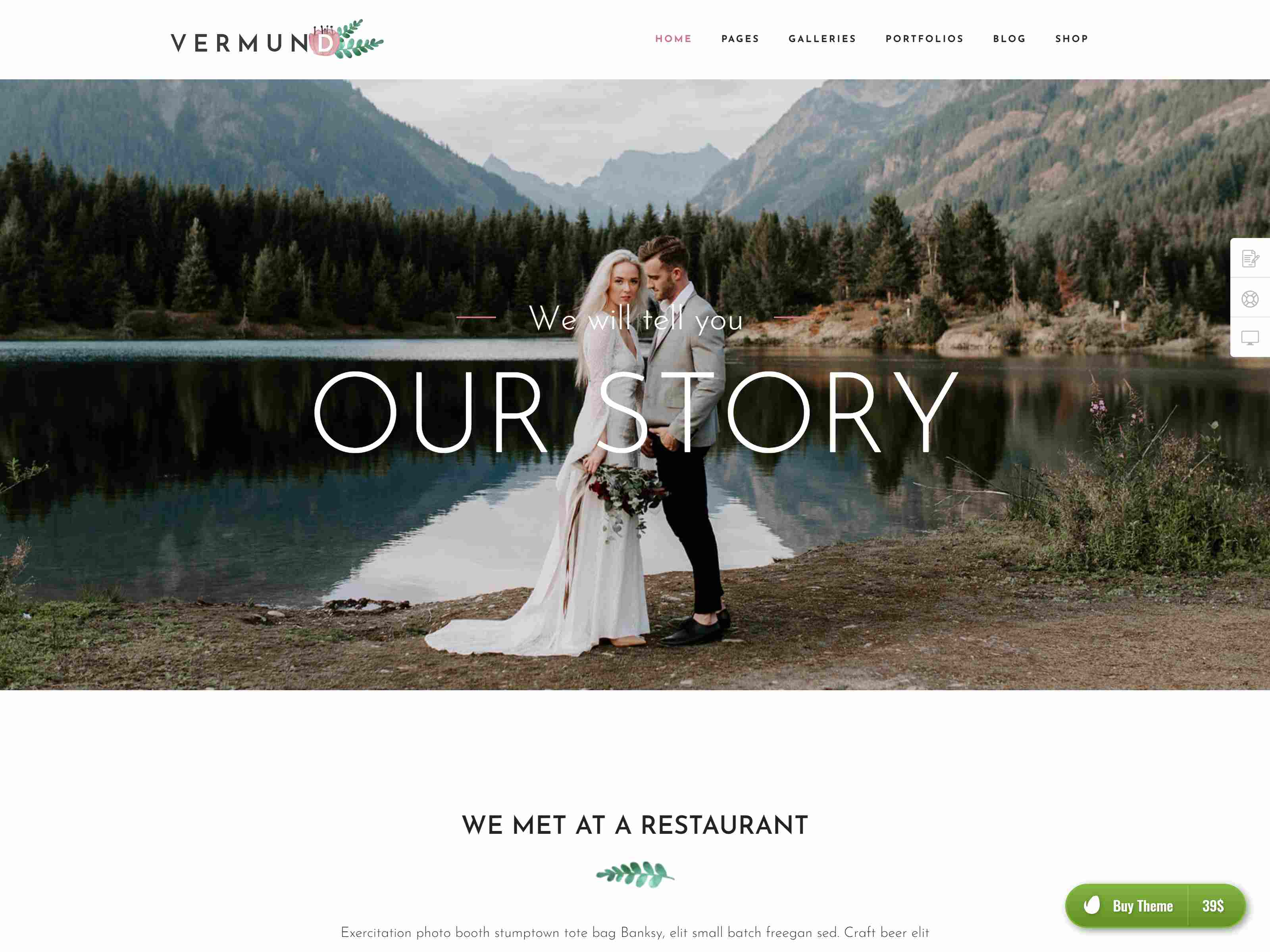 Vermund - Elegant Wedding WordPress Theme