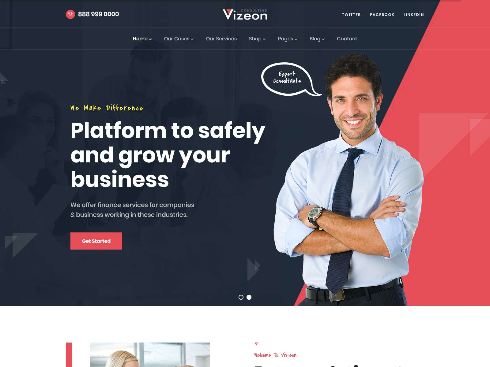 Vizeon - Business Consulting WordPress Themes