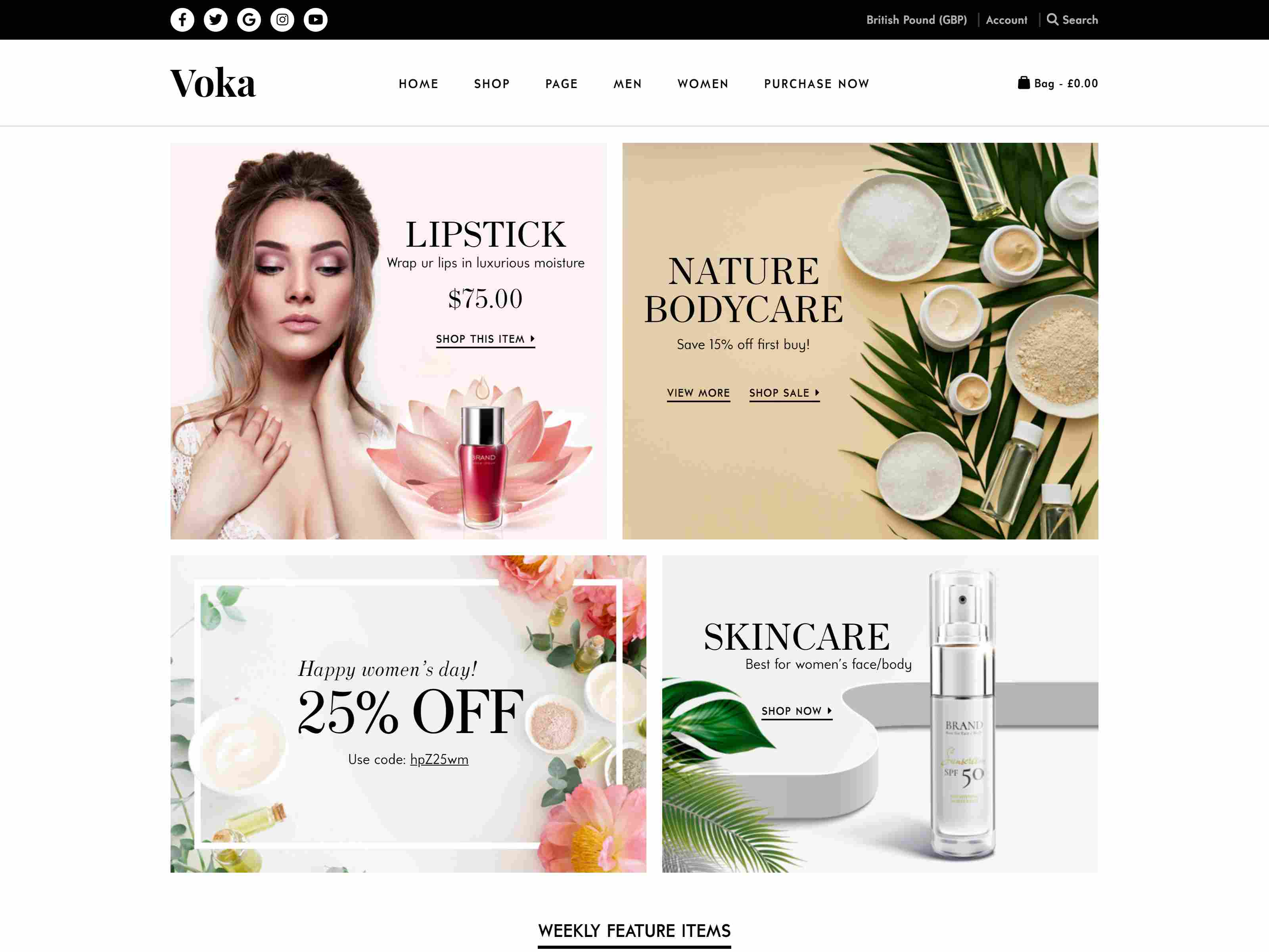 Voka - Fashion Cosmetic & Accessories WooCommerce Theme
