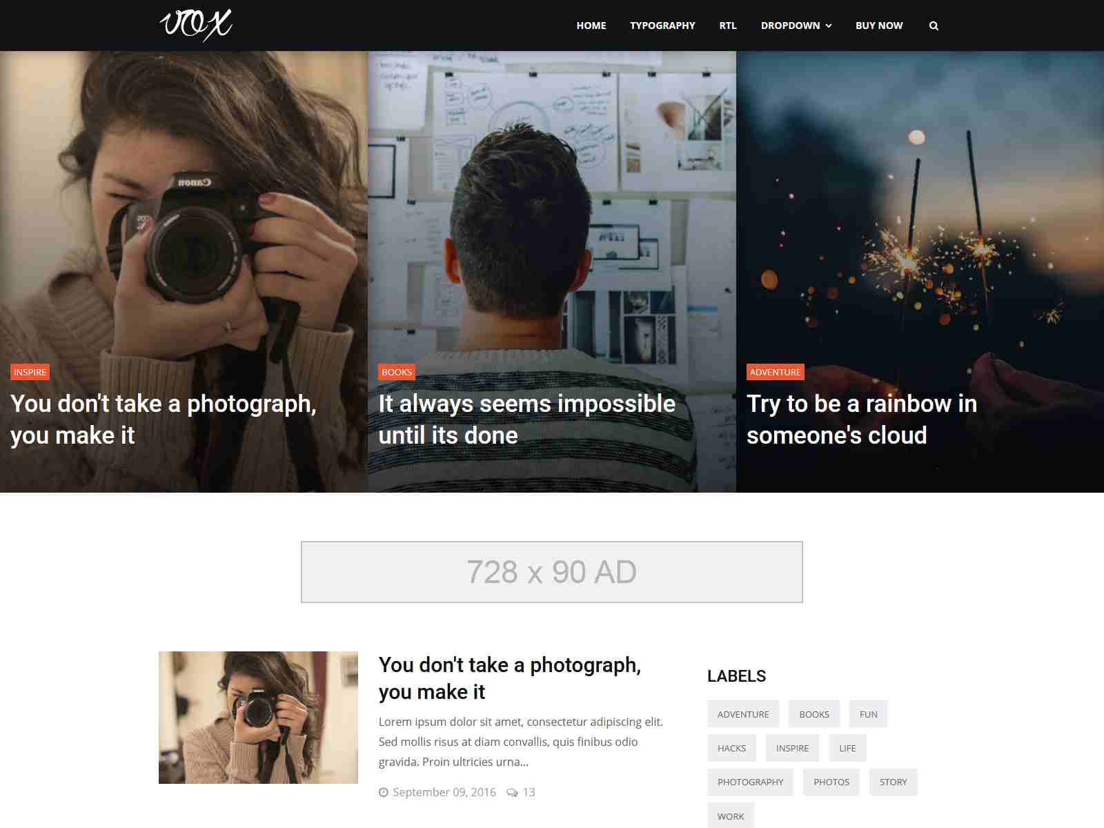 Vox - Responsive Magazine & Blog Blogger Template