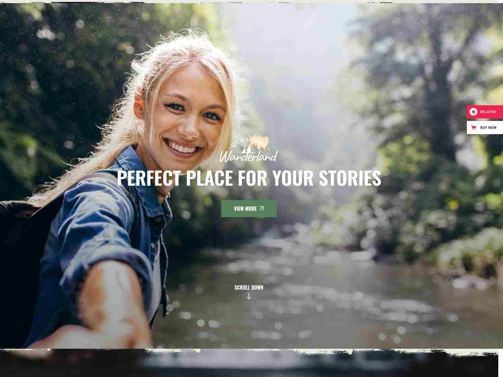 Wanderland - Travel Blog wordpress news themes