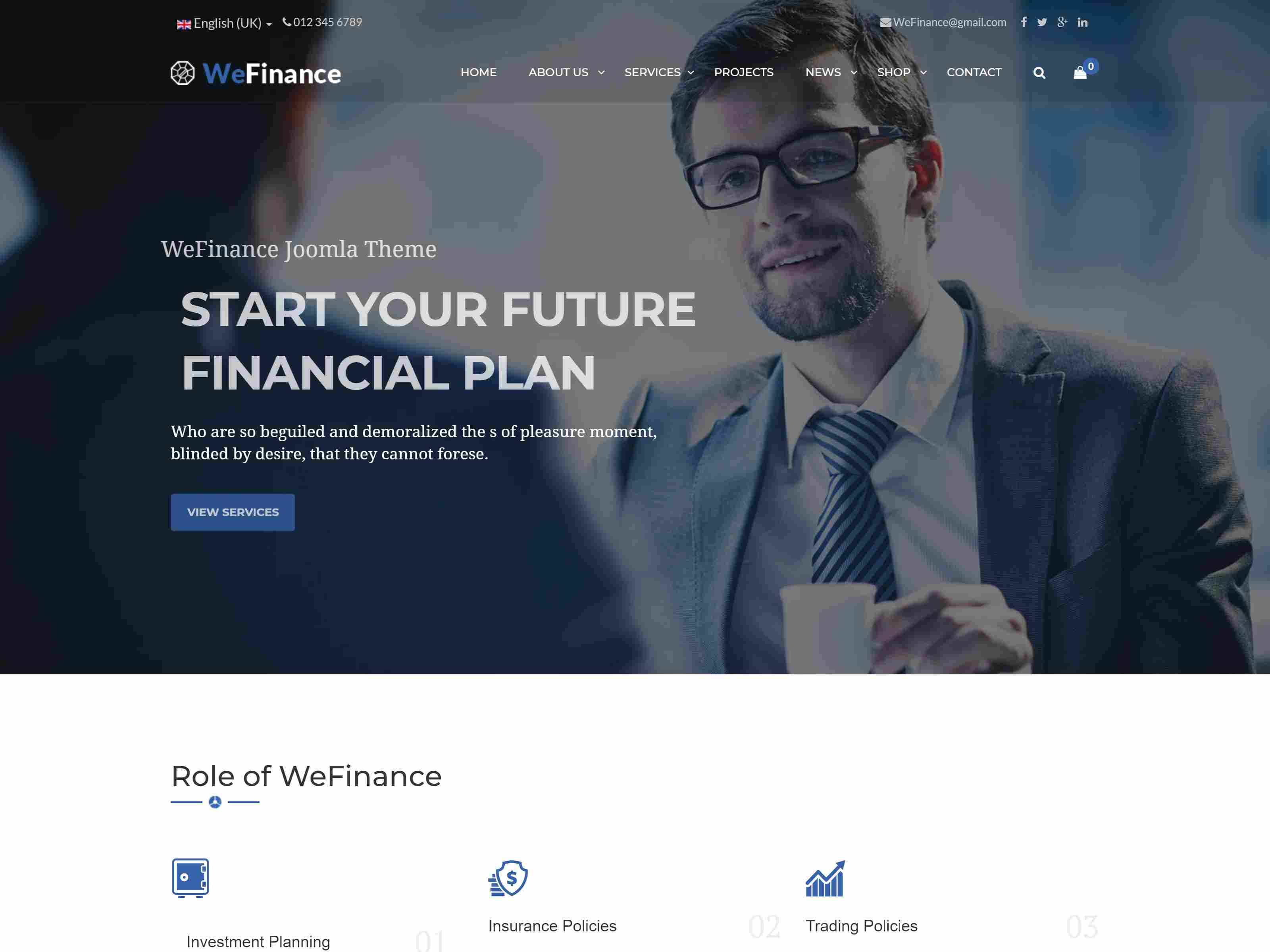 We Finance - Consulting Business Joomla Template