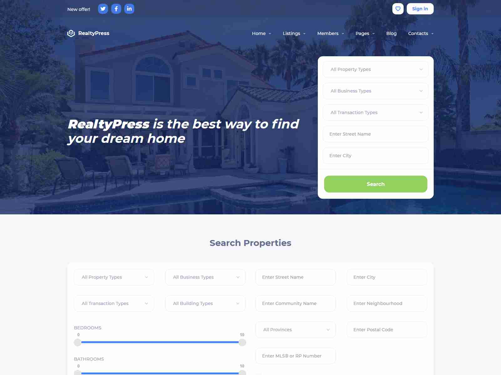 Wealty - Multipurpose Real Estate WordPress Theme real estate wordpress themes