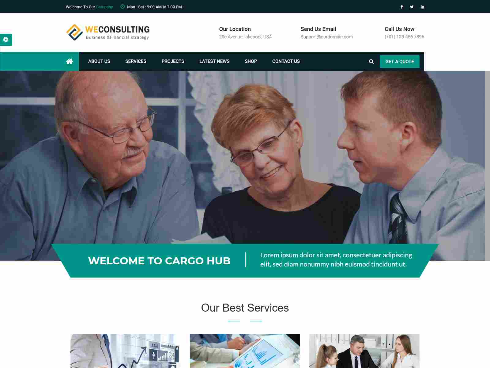WECONSULTING - Responsive BootStrap Drupal 8.8 Theme