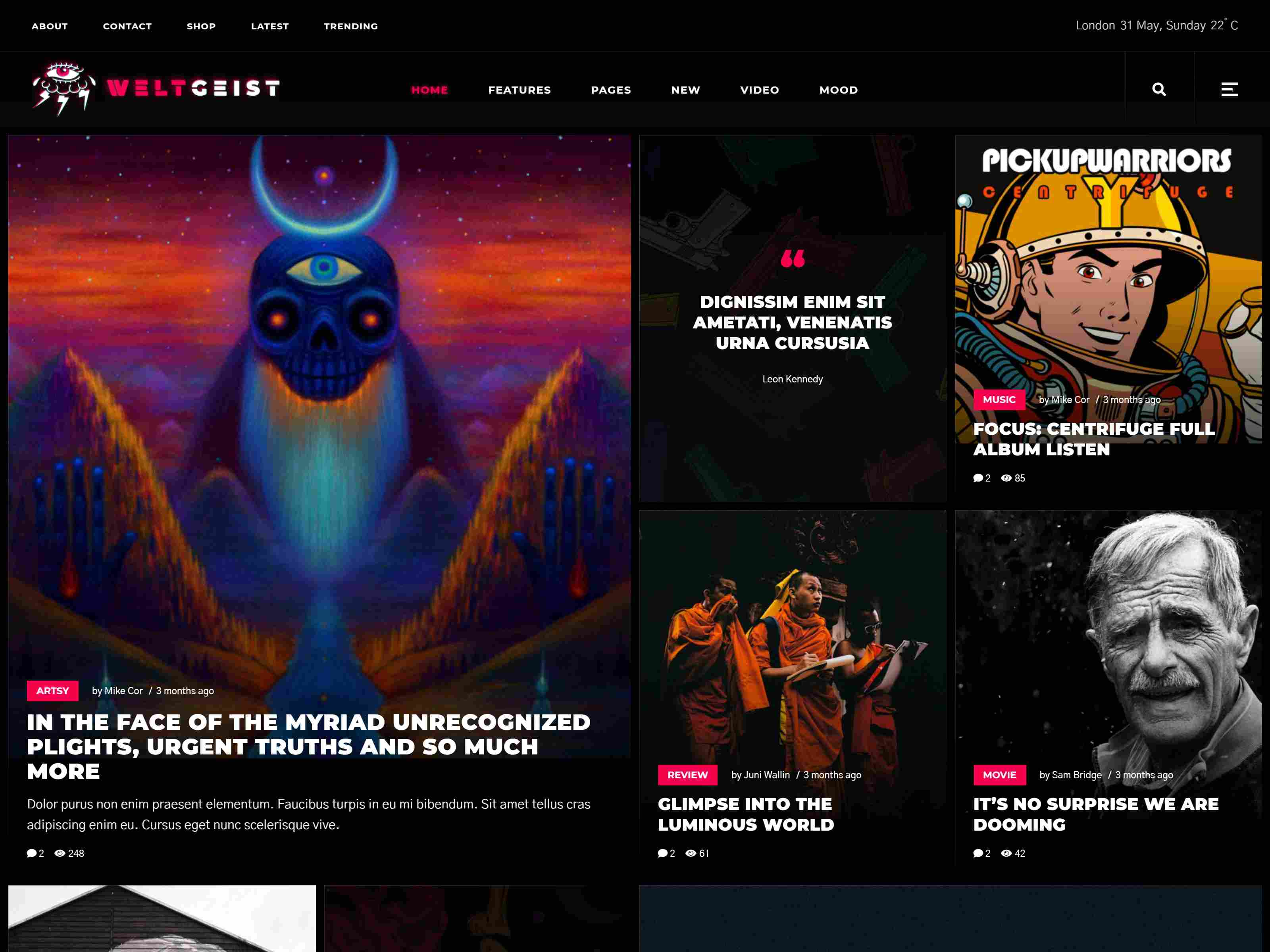 Weltgeist - Viral Magazine Theme wordpress news themes