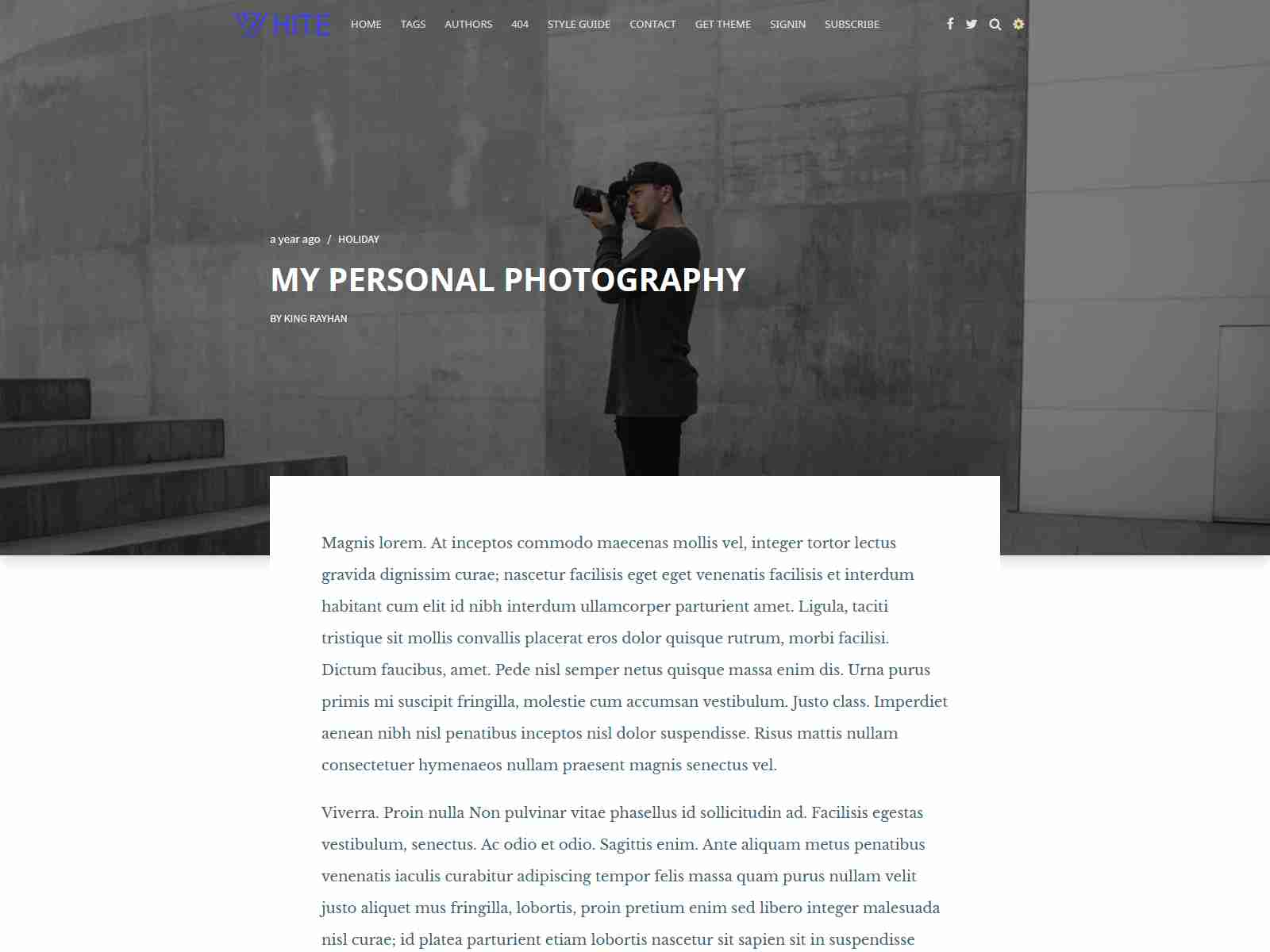 White - Minimal and creative ghost blogging theme