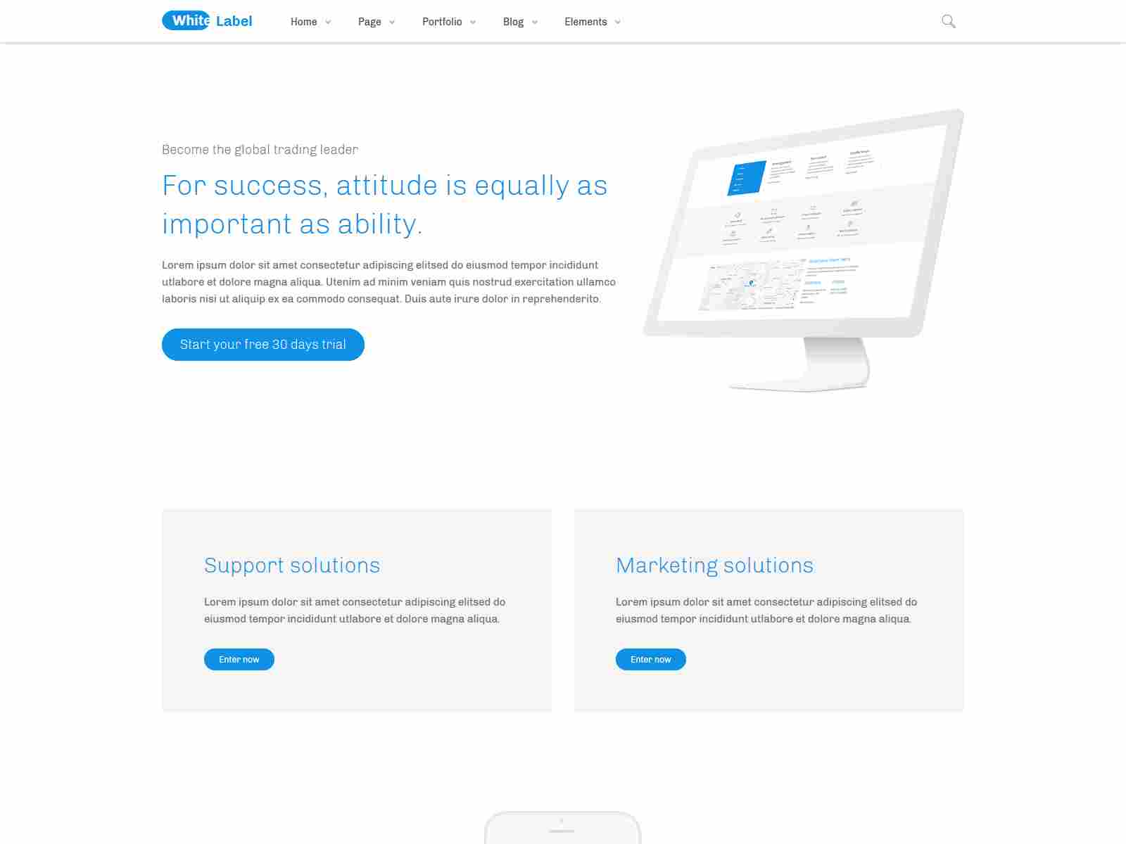 White Label - Clean Drupal 8.8 theme for Modern Web Businesses