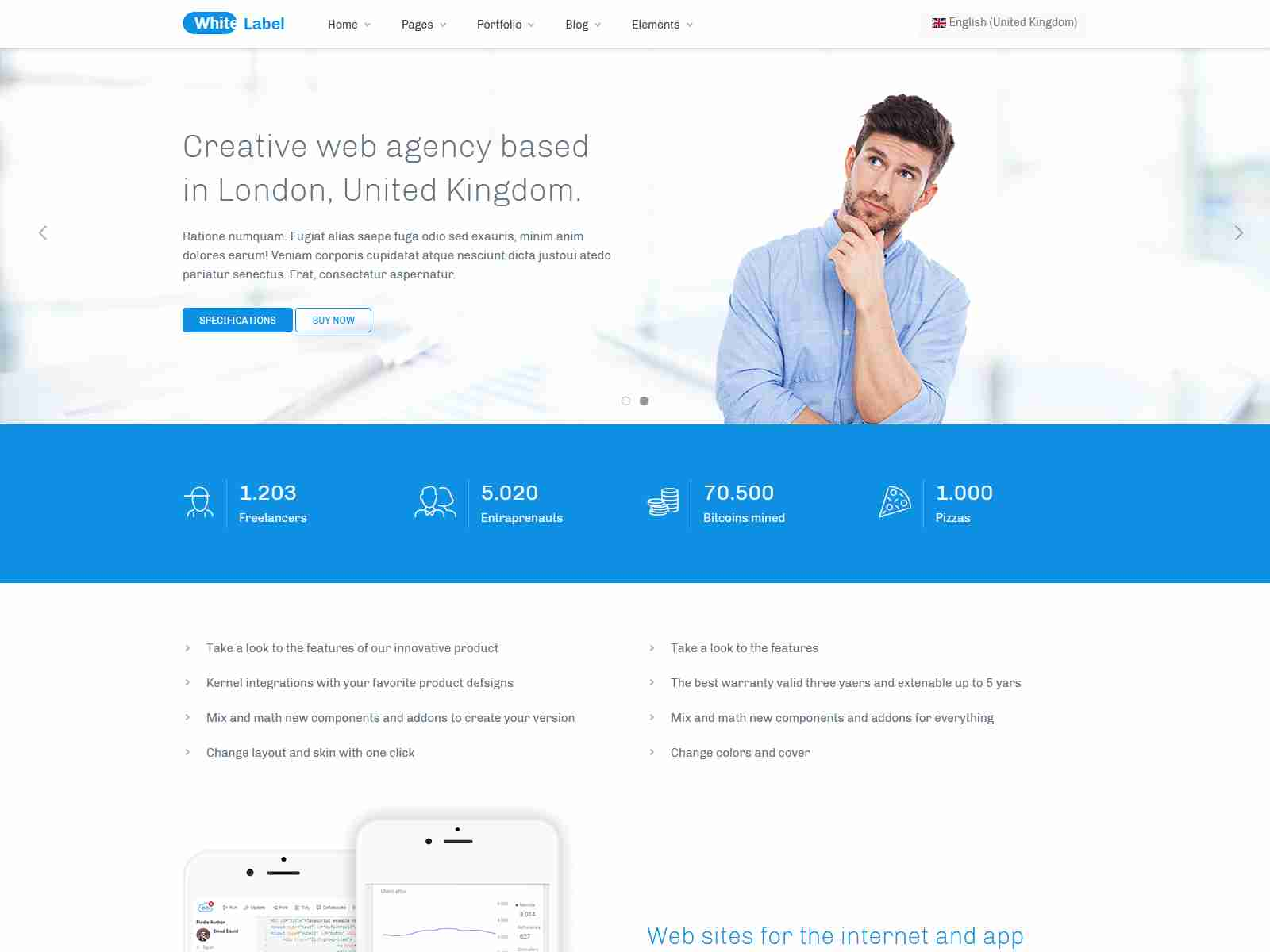 White Label - Modern Businesses Joomla Template
