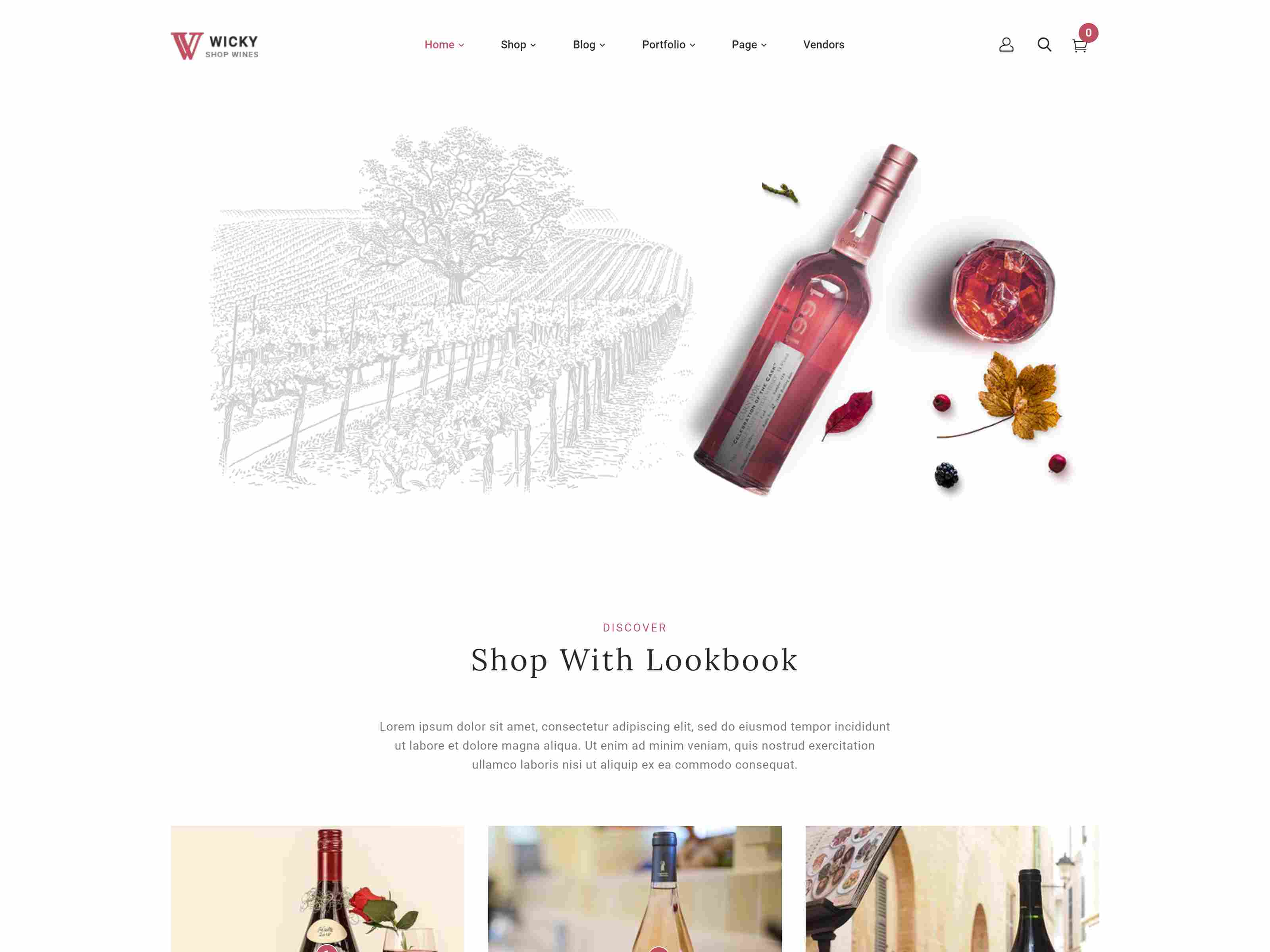 Wicky – Wine Shop WooCommerce Theme