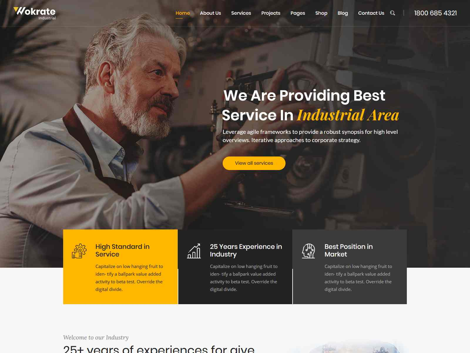 Wokrate – Industry & Factory WordPress Theme Consulting Firms WordPress Themes