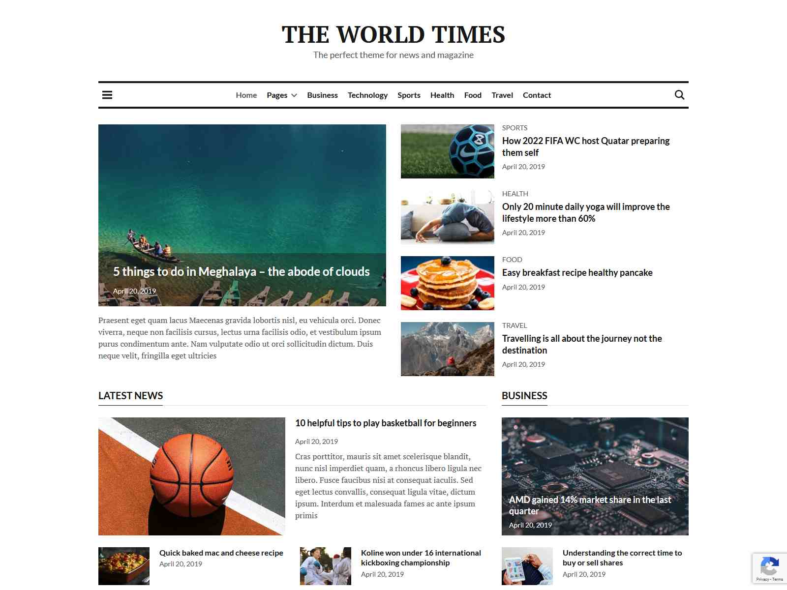 World Times - Newspaper & Magazine Style WordPress Theme wordpress news themes