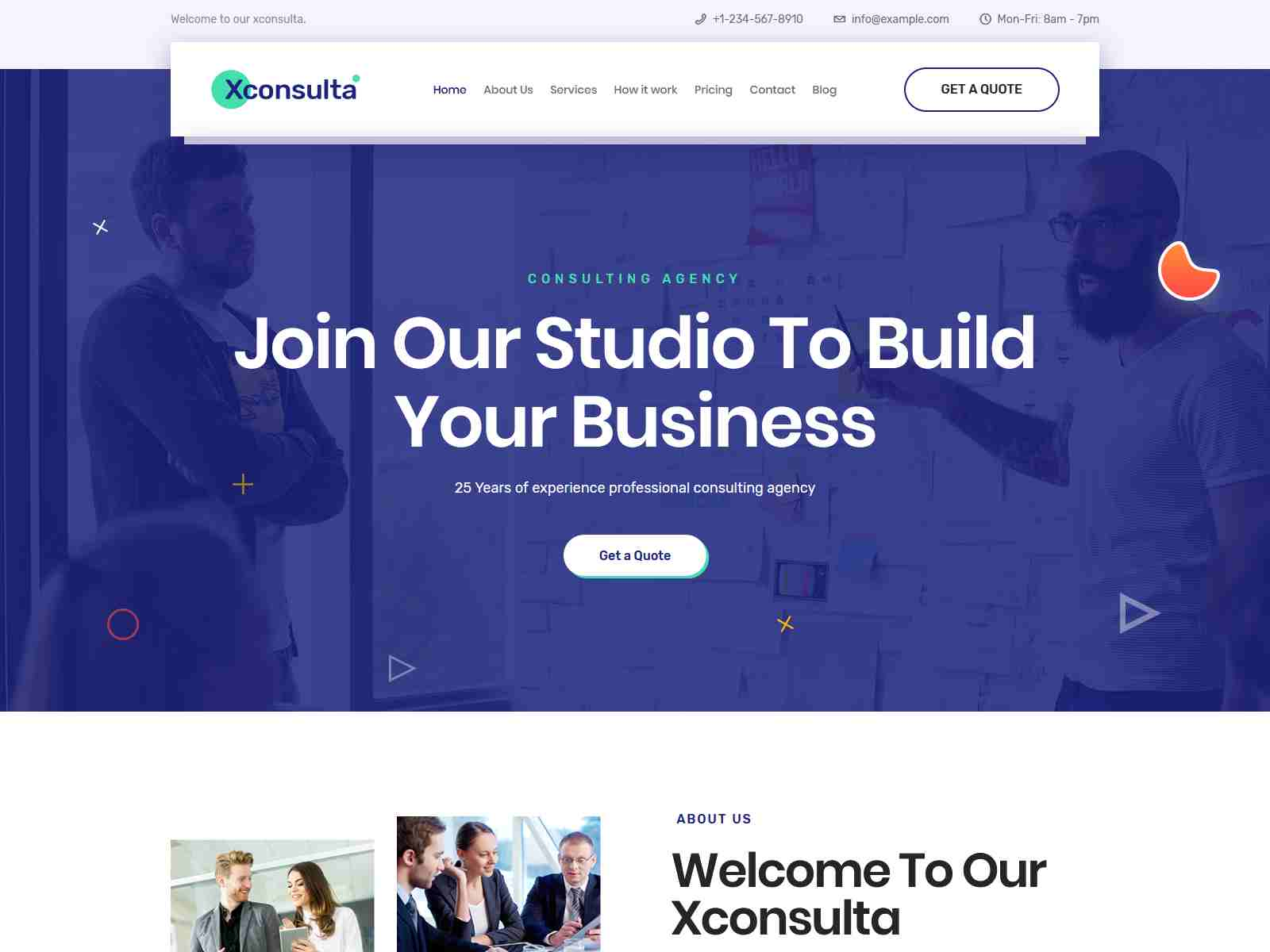 Xconsulta - Business & Startup Landing Page WordPress Theme Insurance Company WordPress Themes