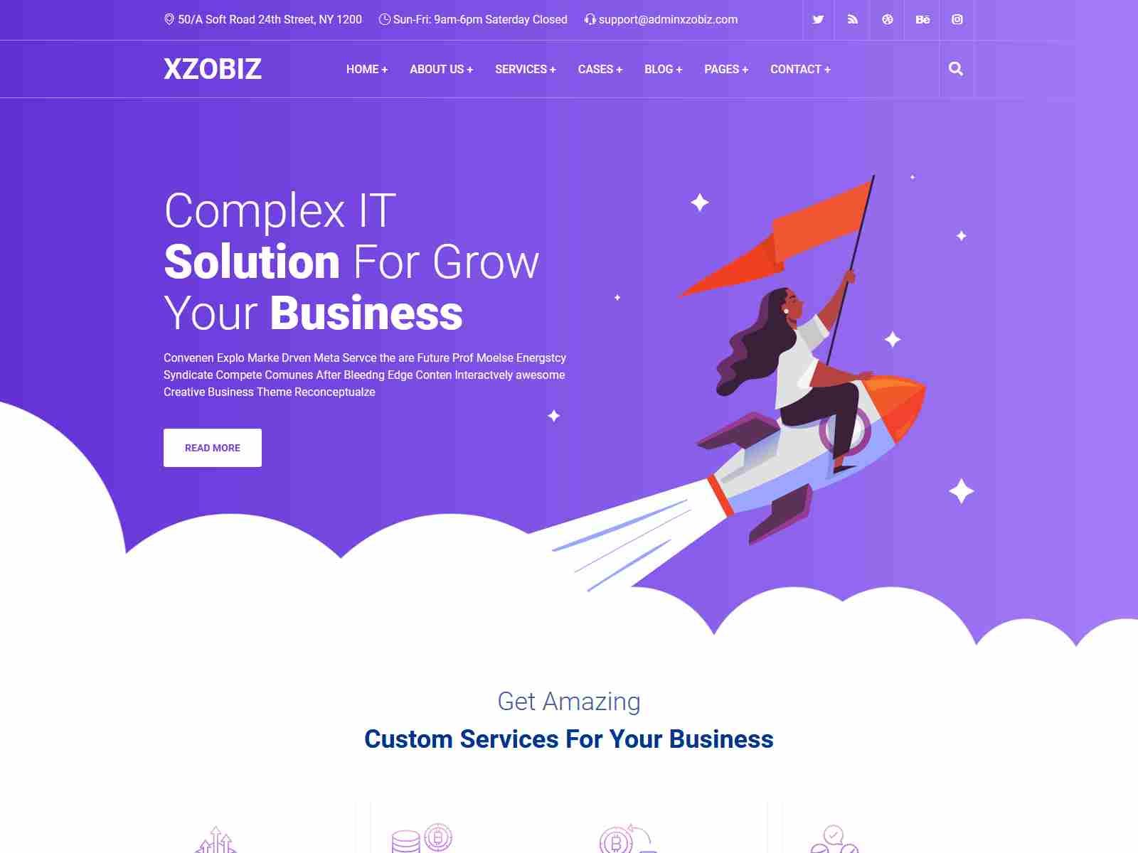 Xzobiz - Business & Financial Consulting WordPress Theme Insurance Company WordPress Themes