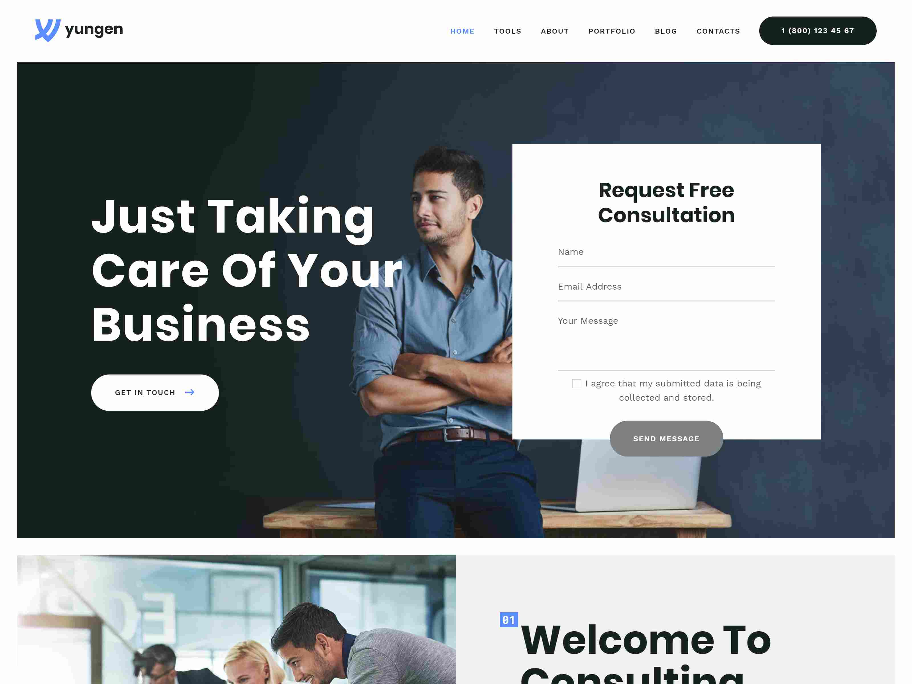 Yungen | Modern Digital Agency Business WordPress Theme